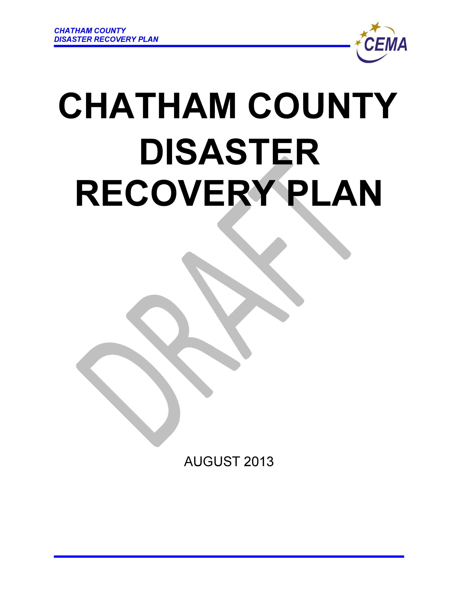 Free Disaster Recovery Plan Template 45