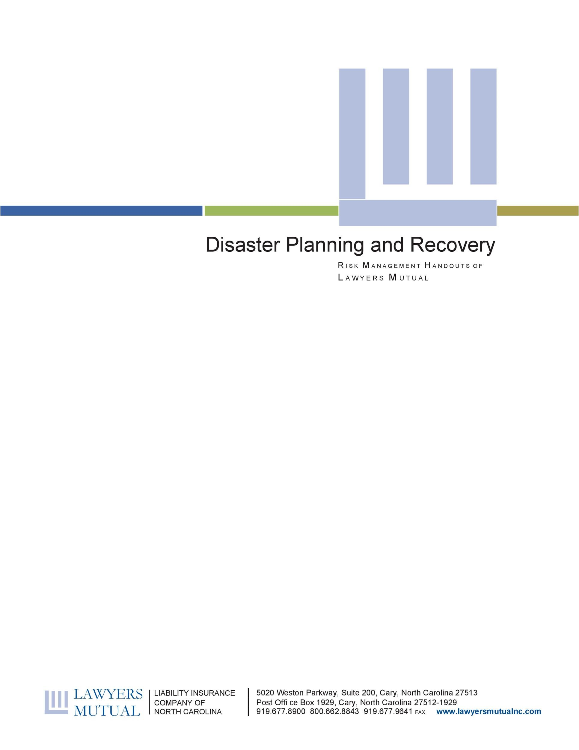 Free Disaster Recovery Plan Template 47