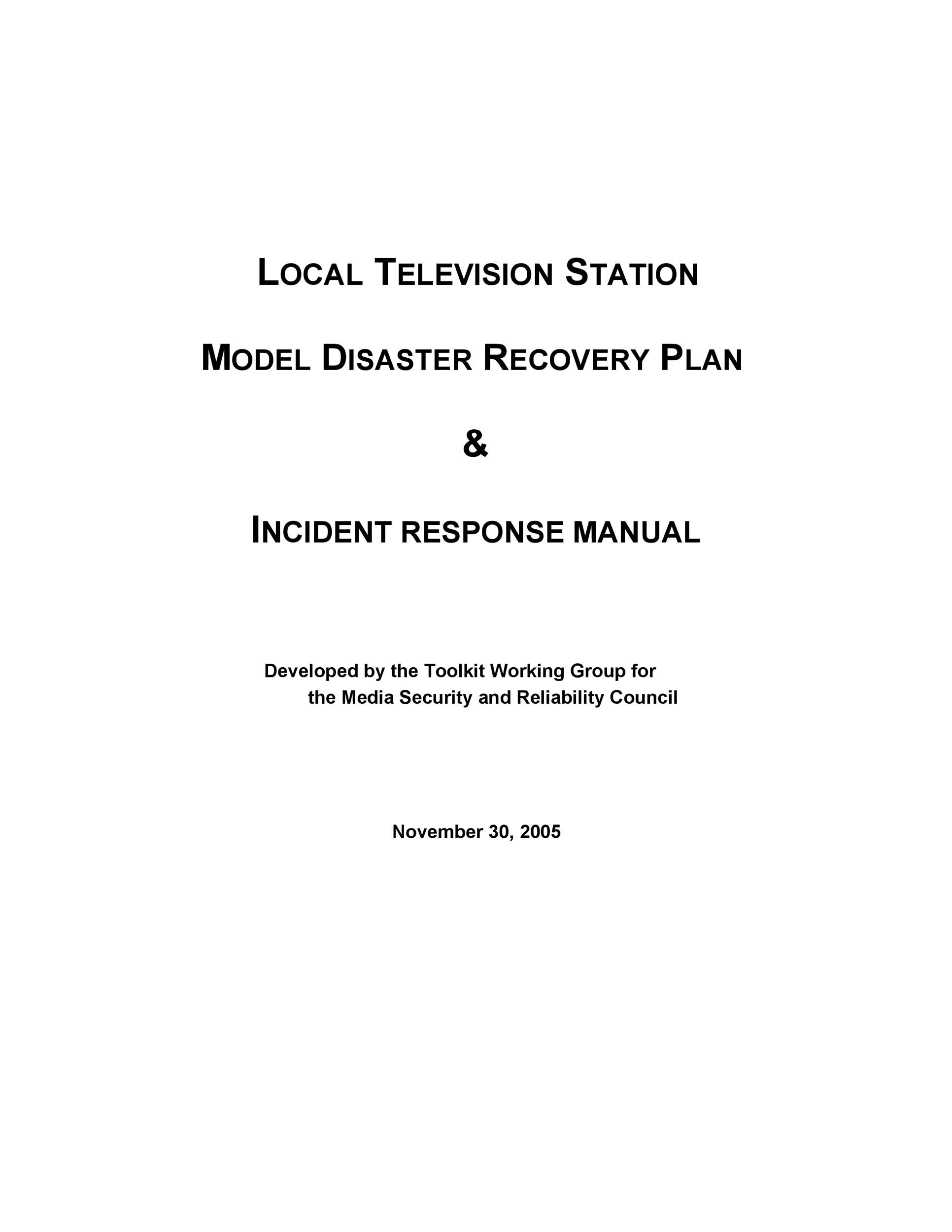 Free Disaster Recovery Plan Template 49