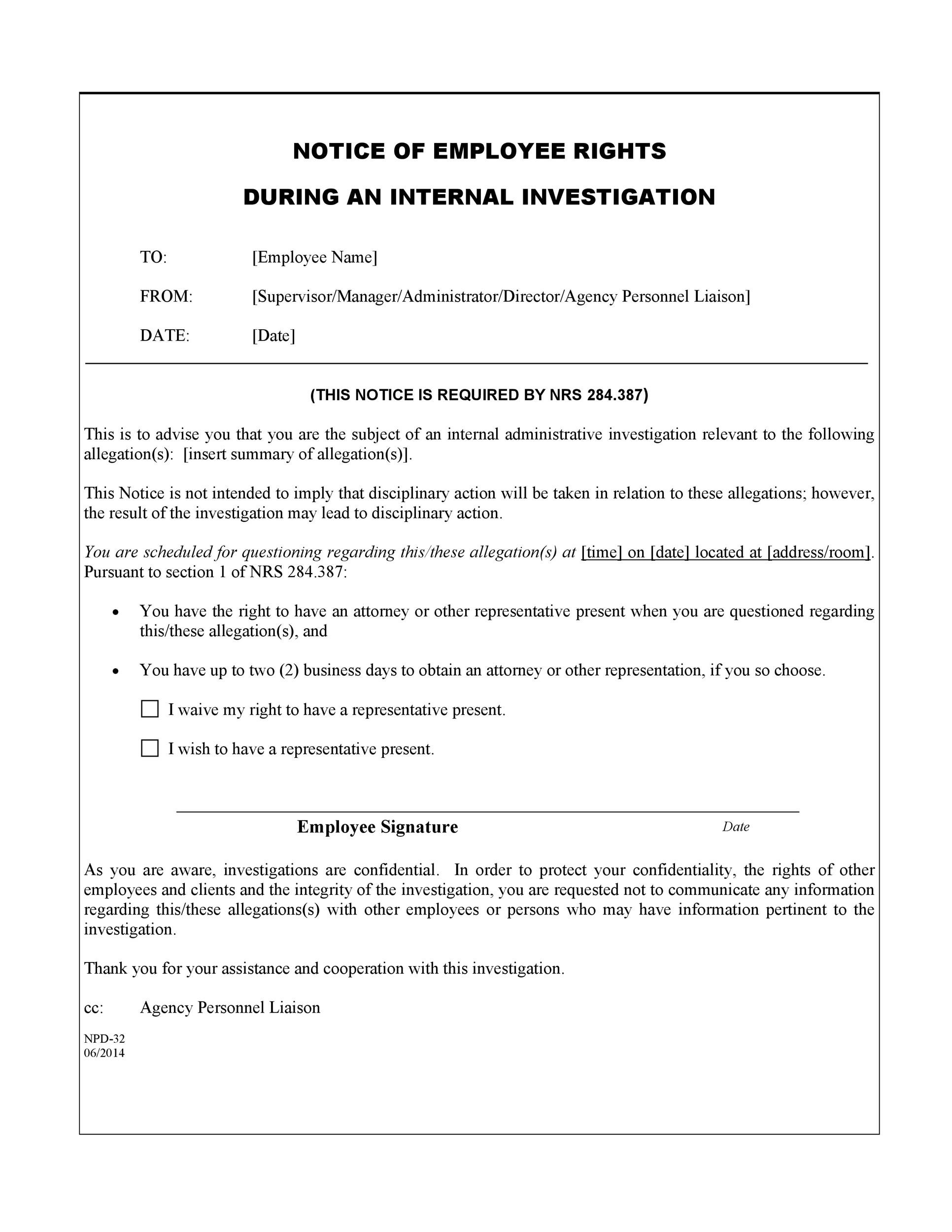 40 Employee Disciplinary Action Forms - Template Lab