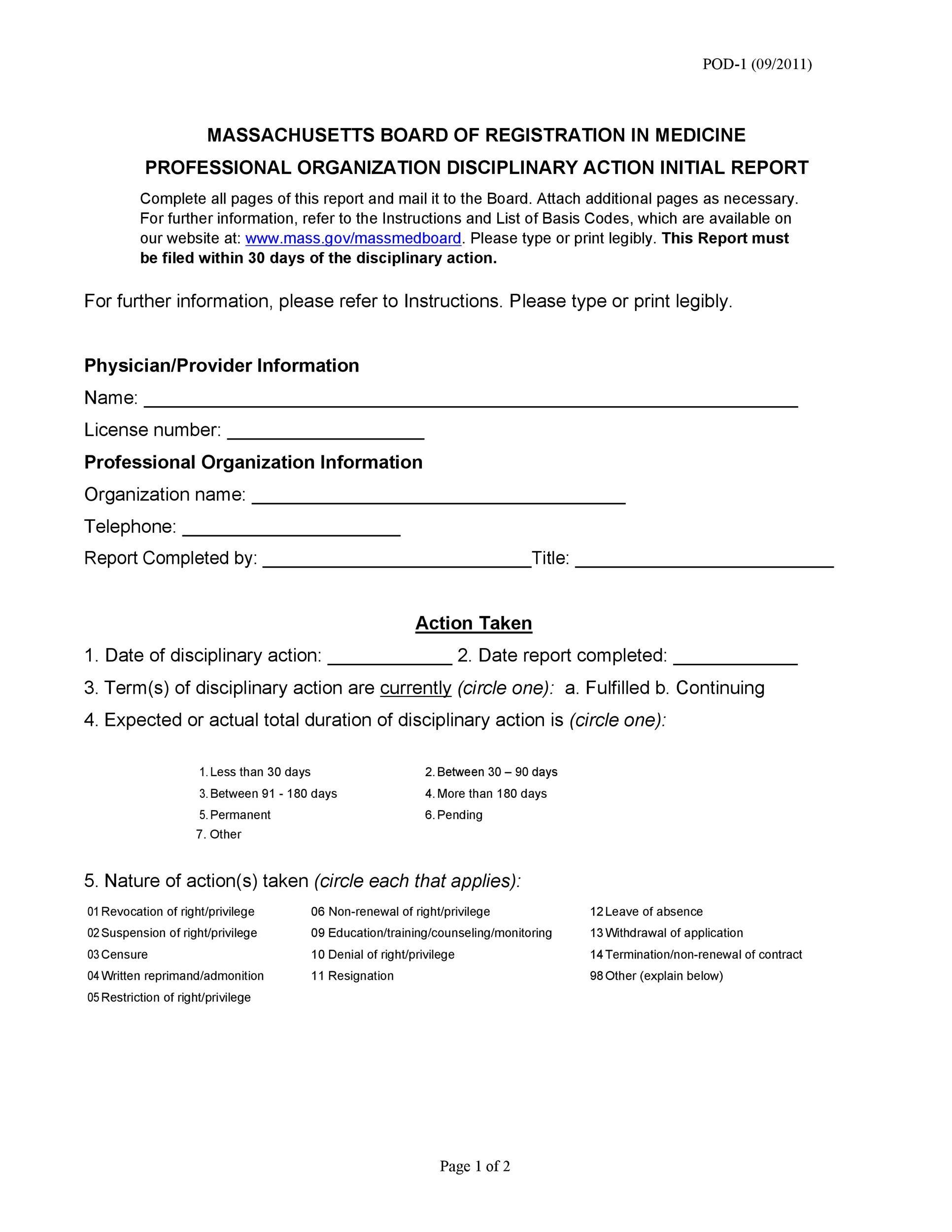 Discipline Form Template  BesikEightyCo