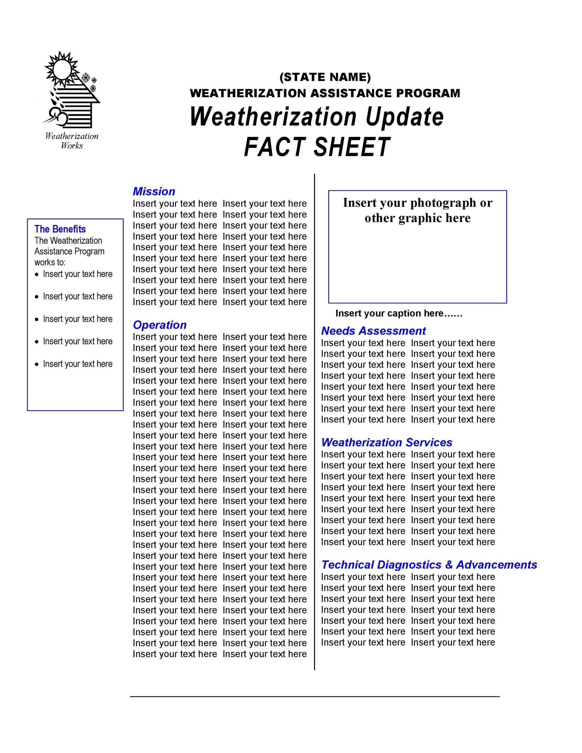 Free Fact sheet Template 06