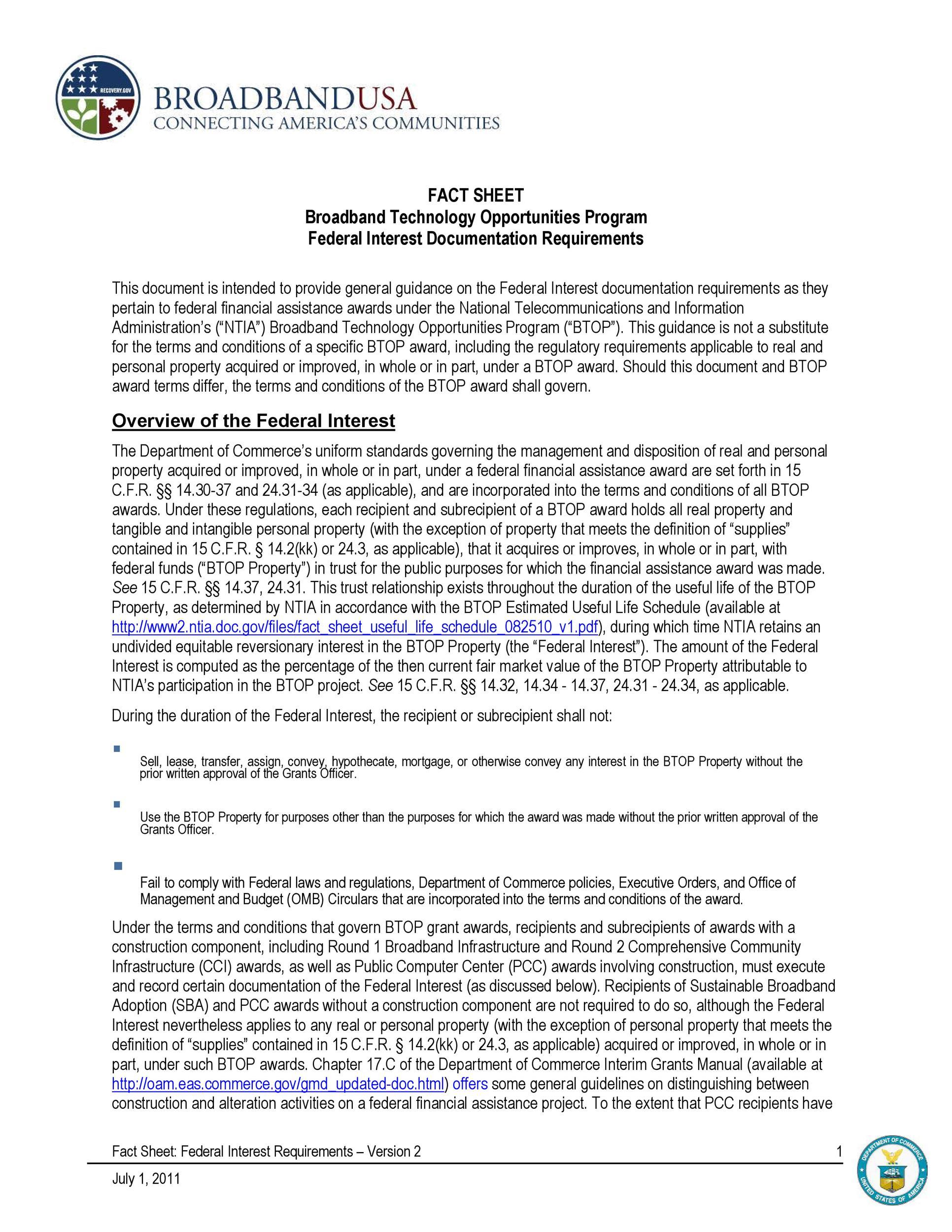 Free Fact sheet Template 16