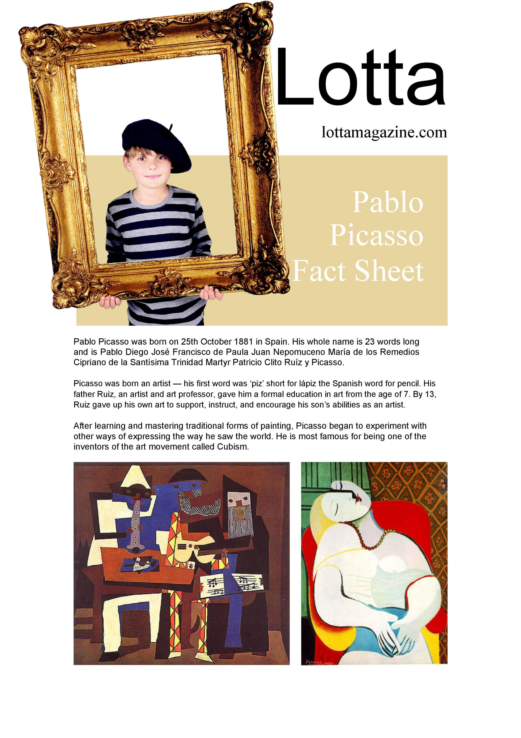 Free Fact sheet Template 18