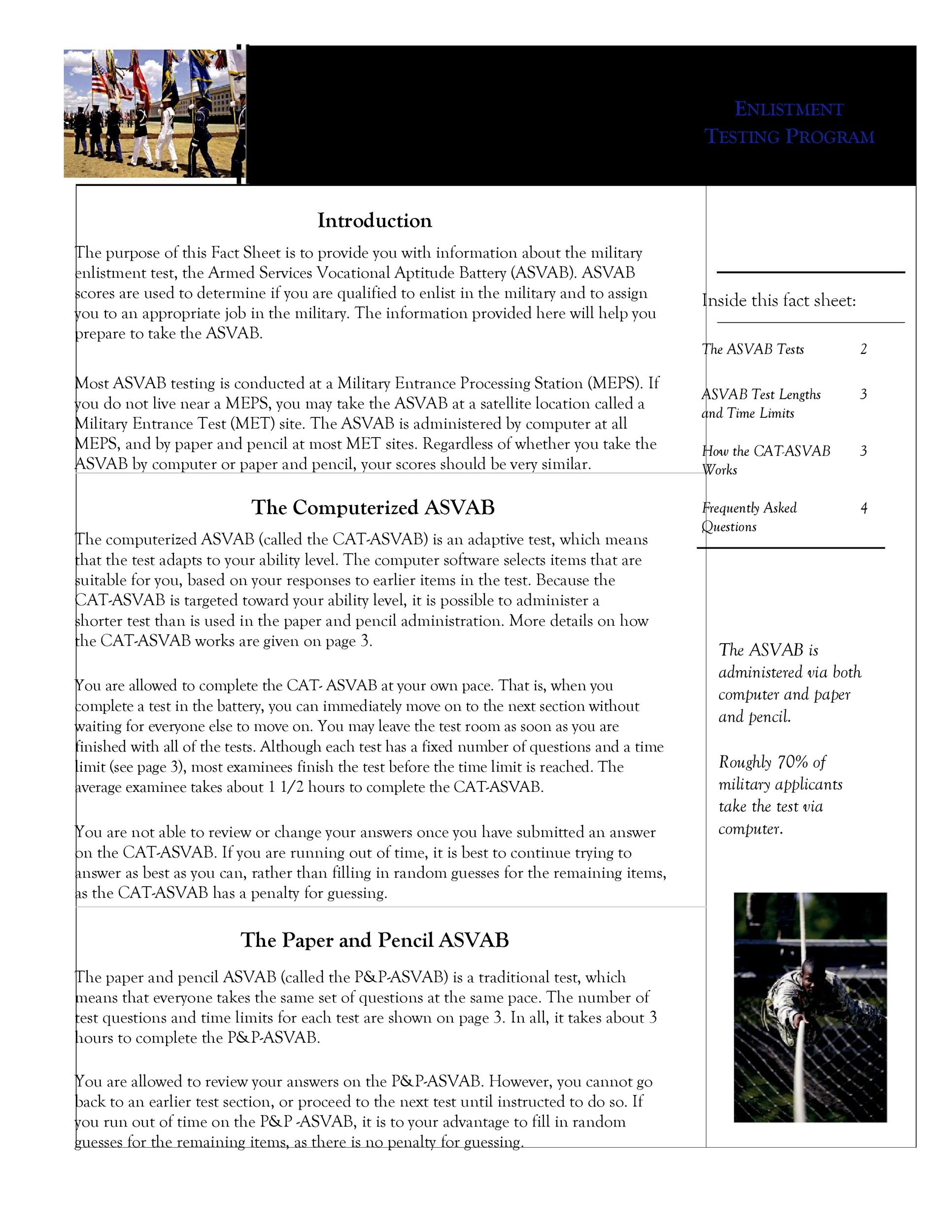 Free Fact sheet Template 26