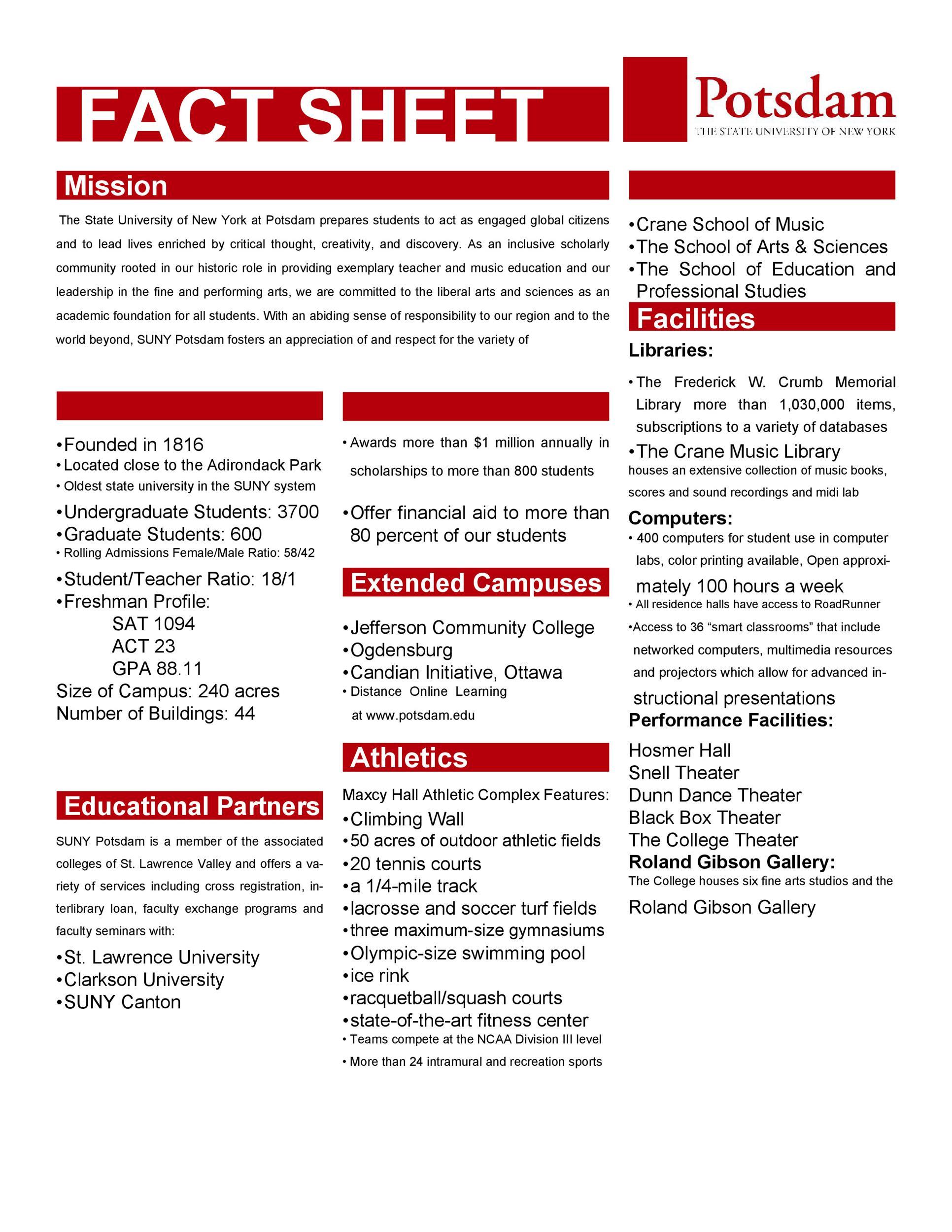 Fact Sheet Templates