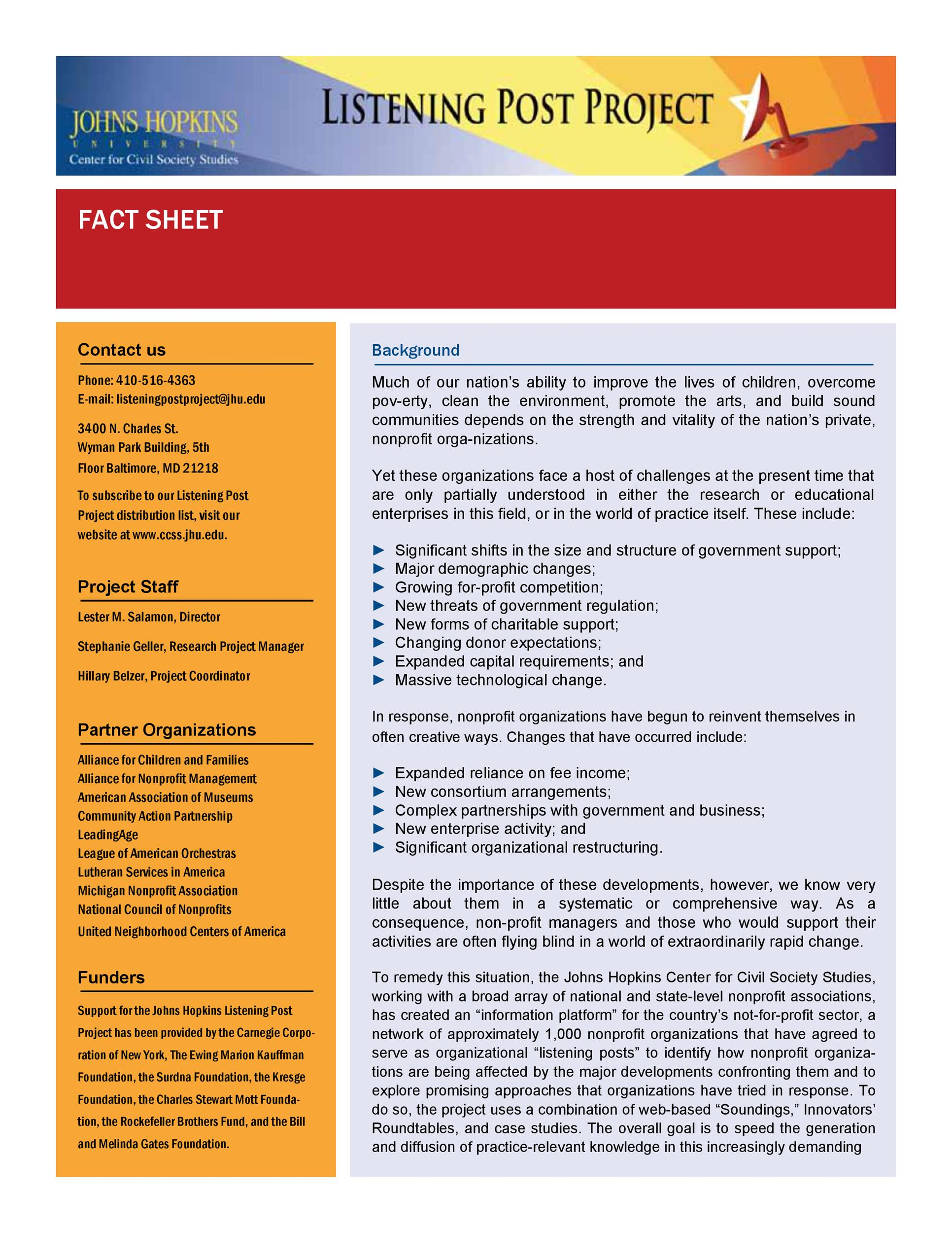 Free Fact sheet Template 37