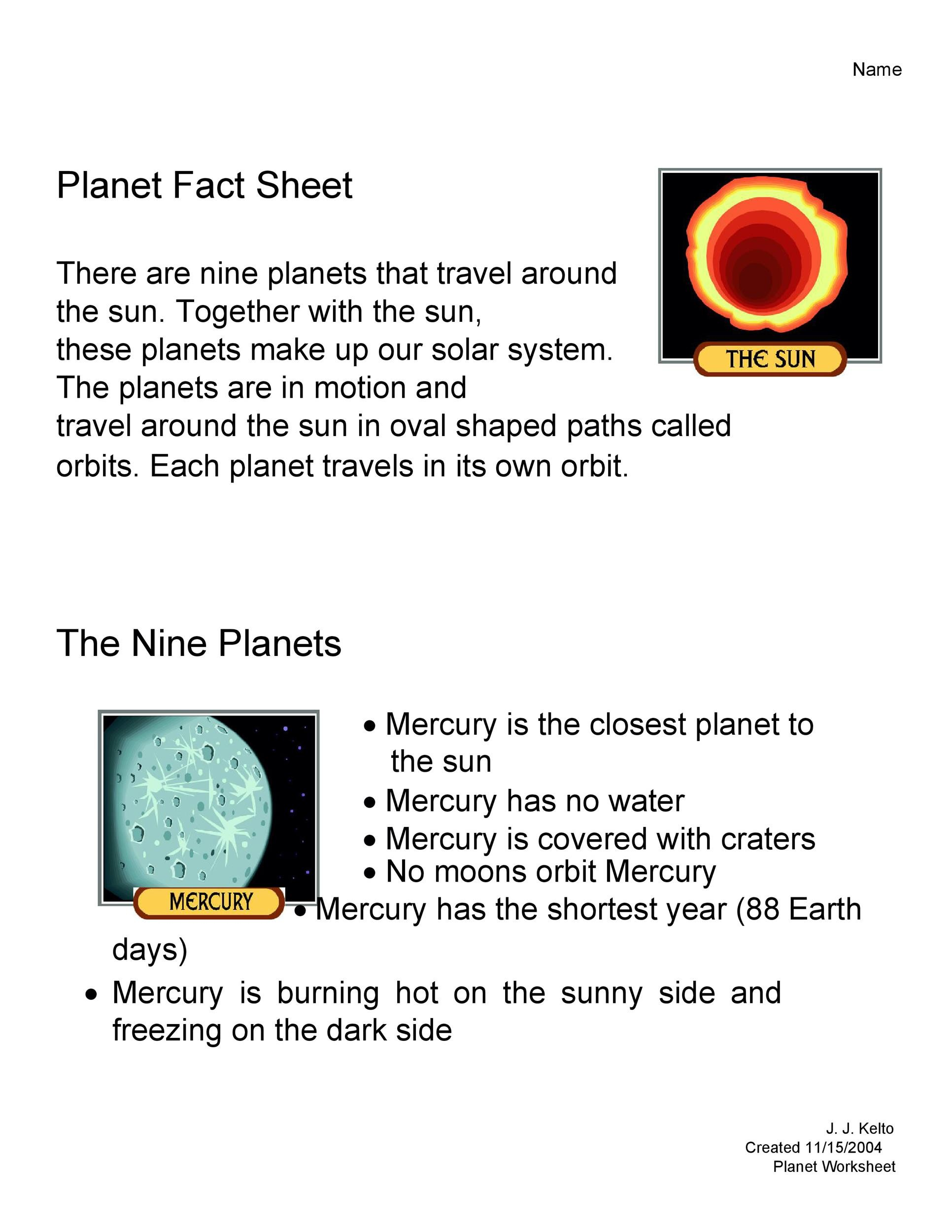 Free Fact sheet Template 44