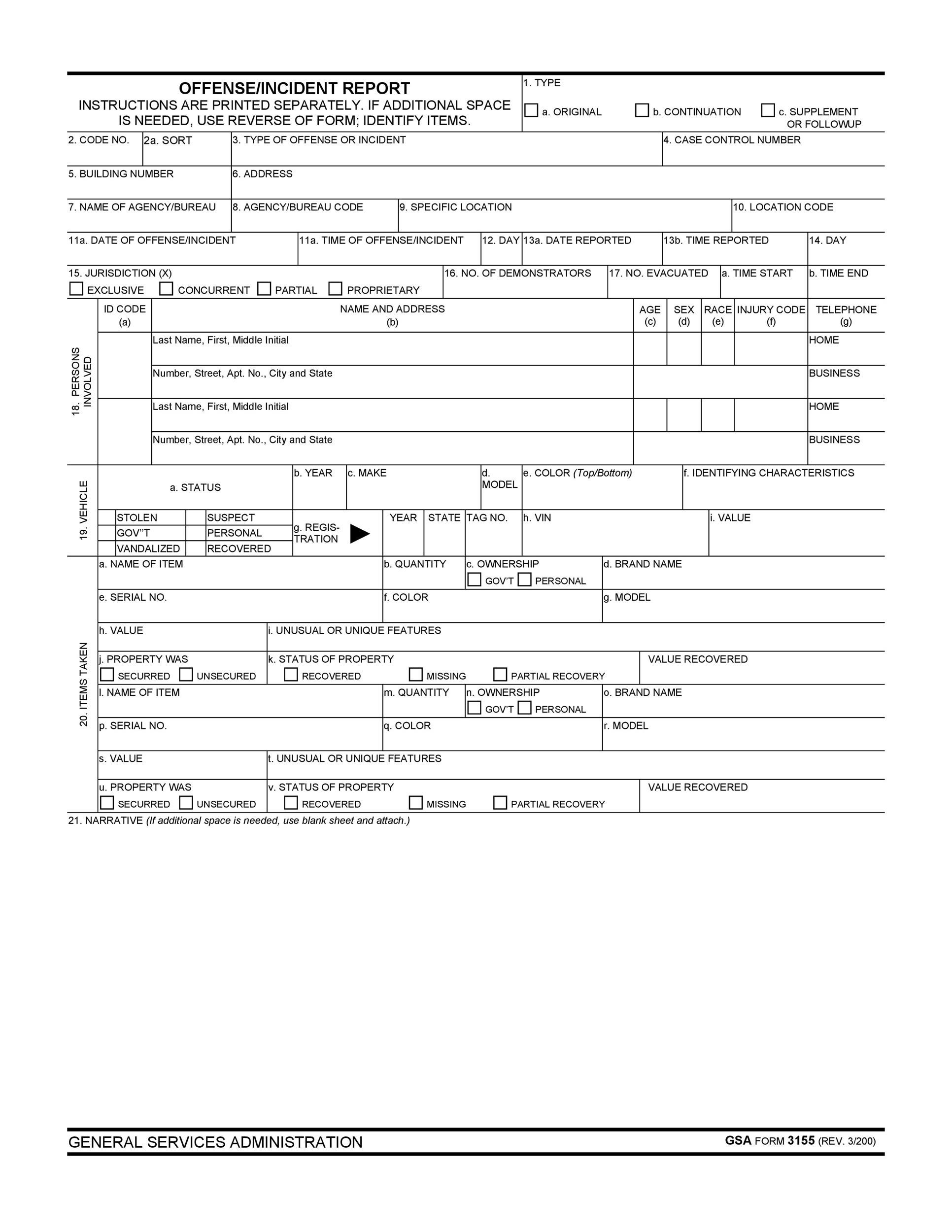 Free Incident Report Template 26