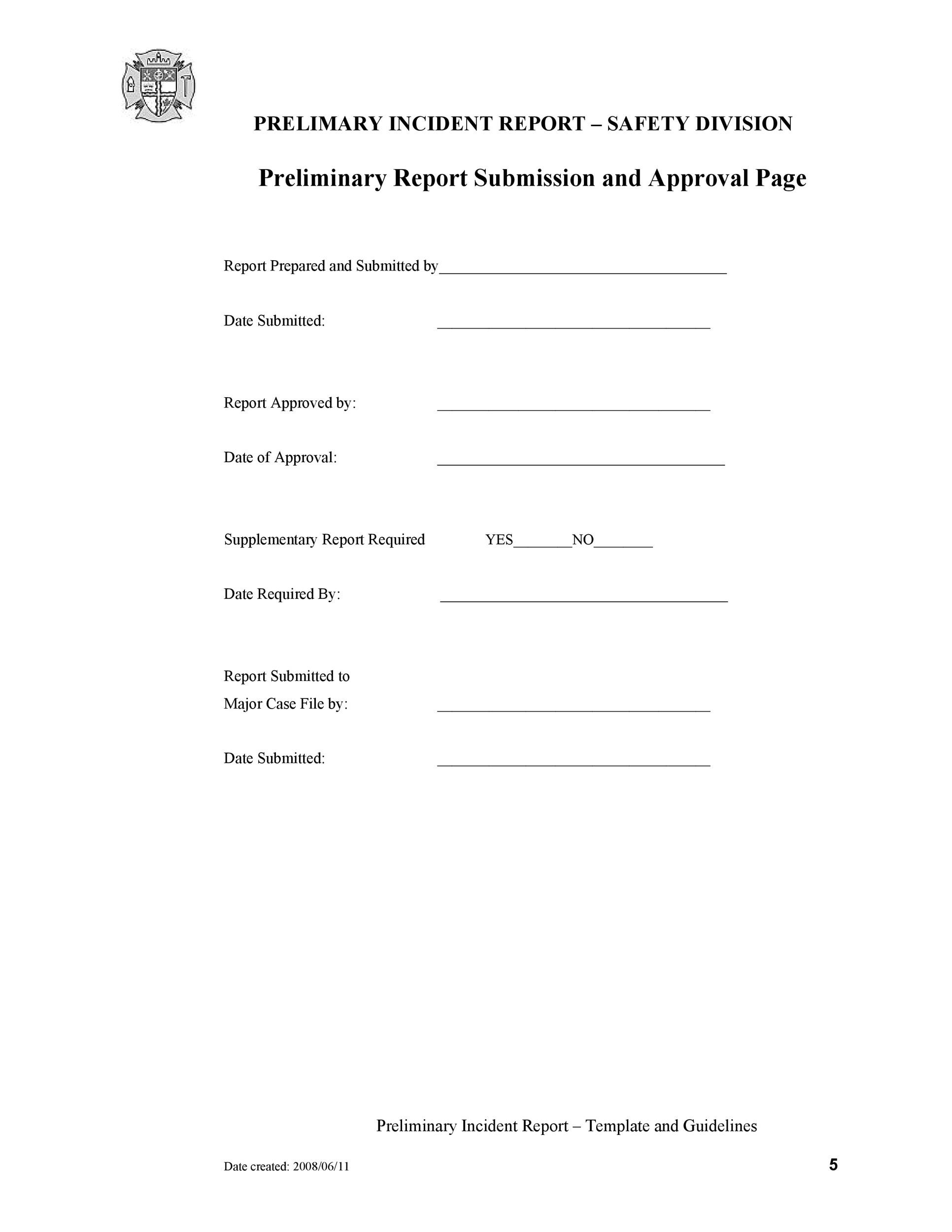 Free Incident Report Template 54