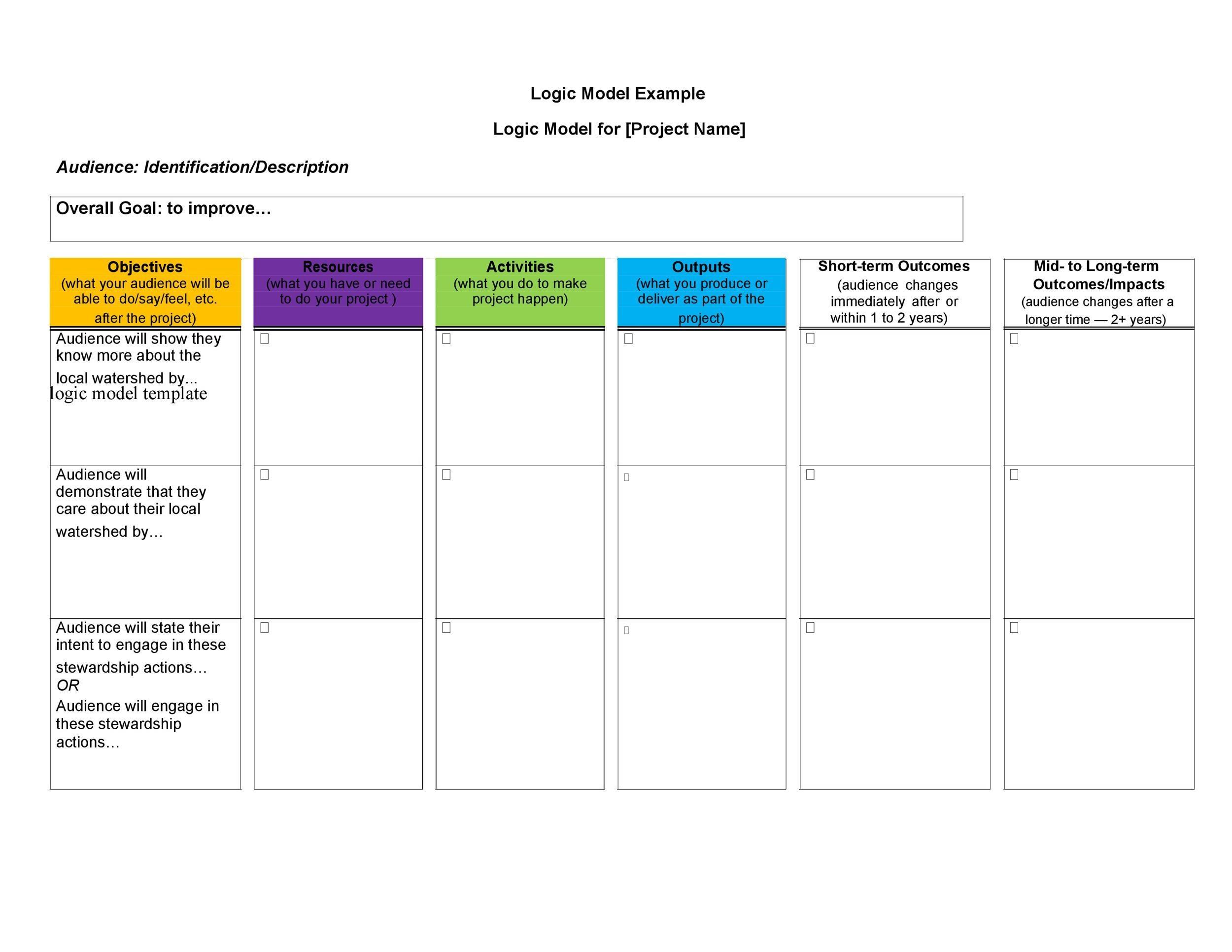 Free Logic Model Template 04