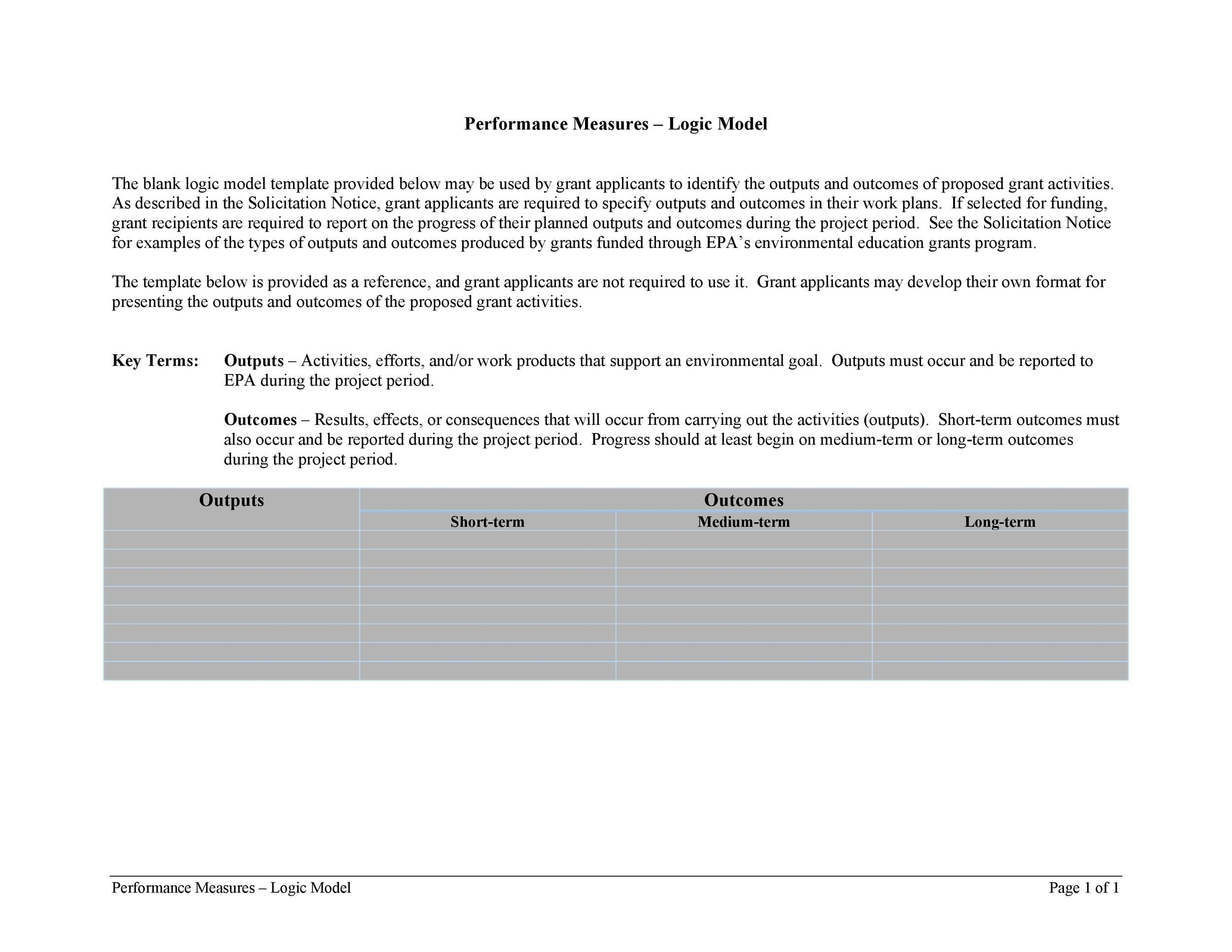Free Logic Model Template 06