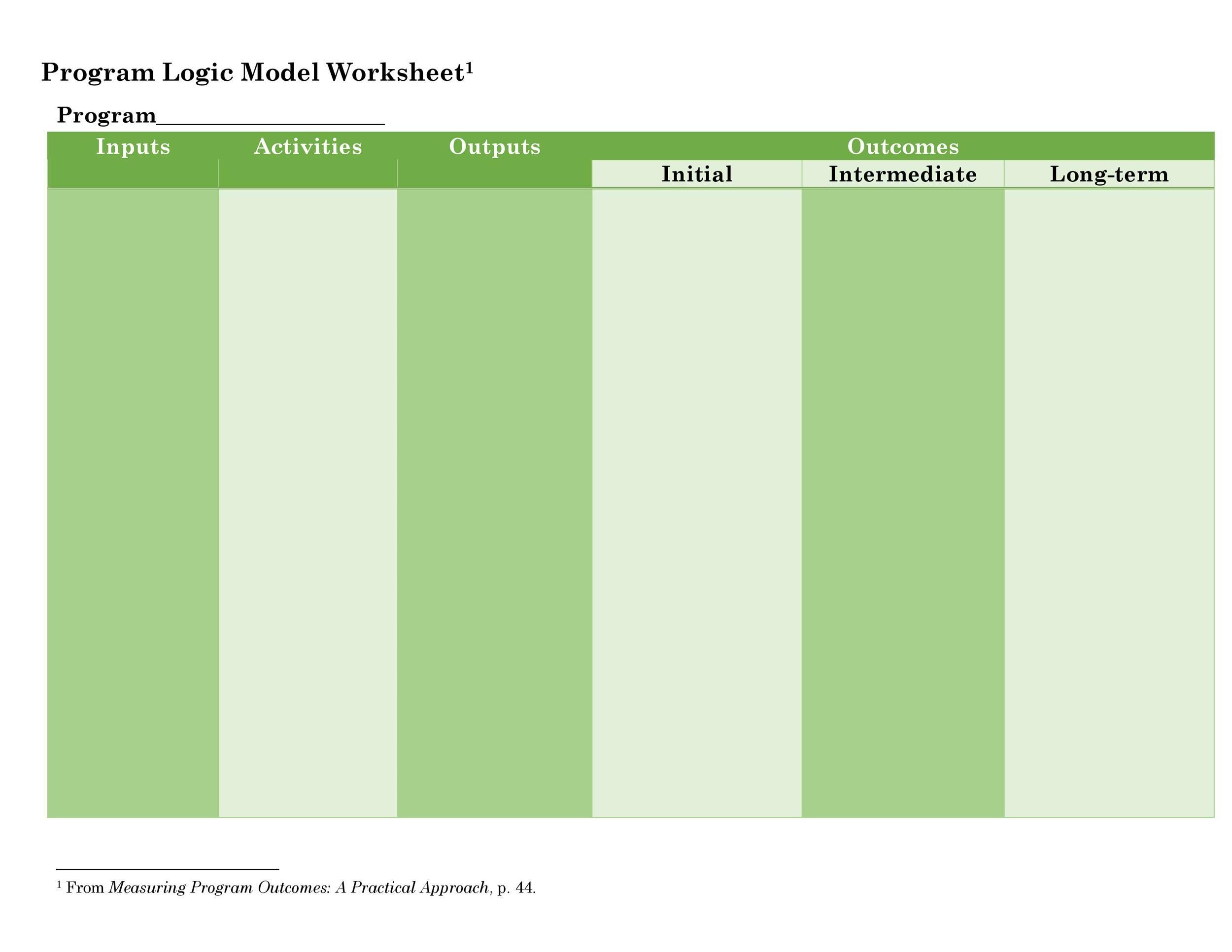 Free Logic Model Template 09