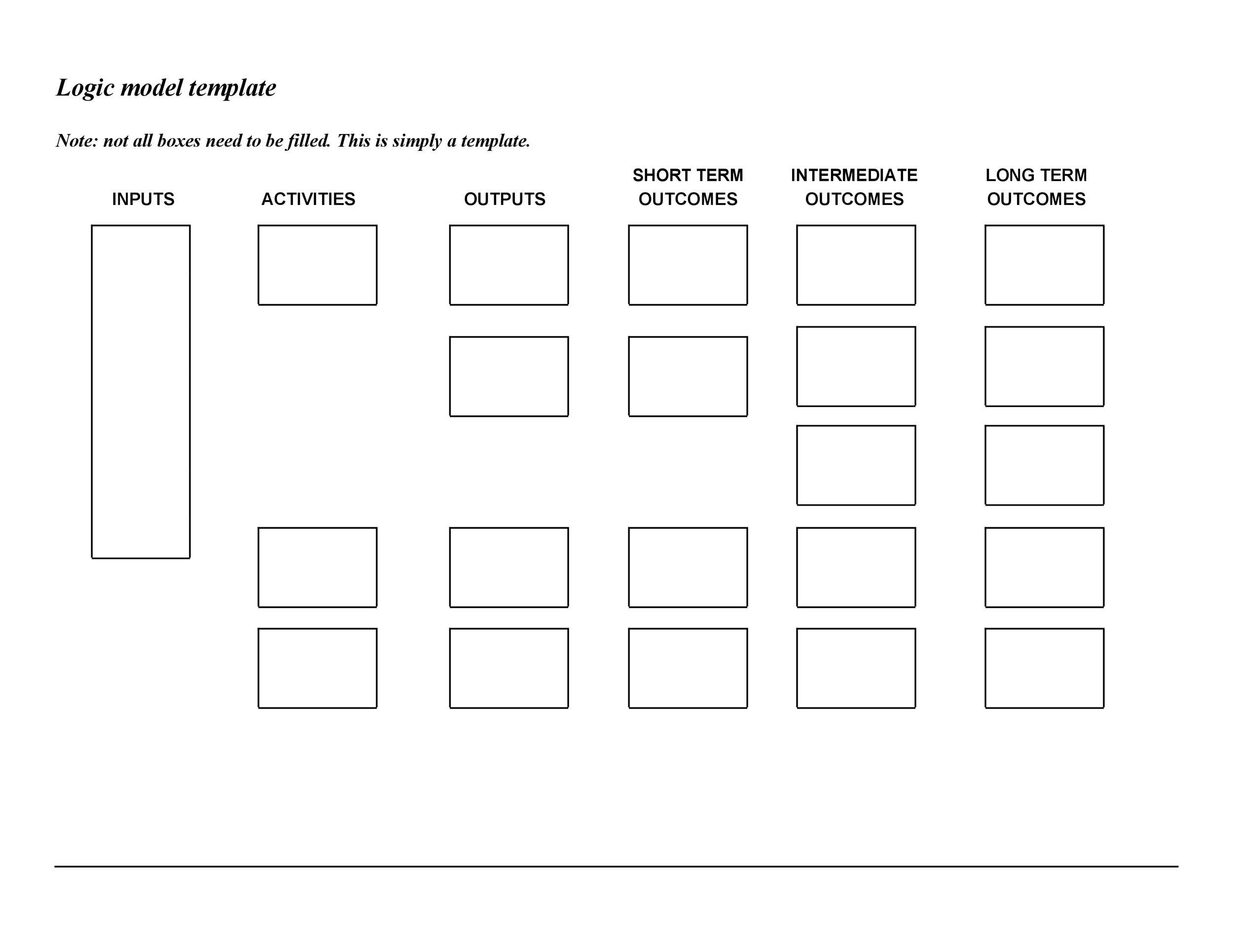 Free Logic Model Template 17