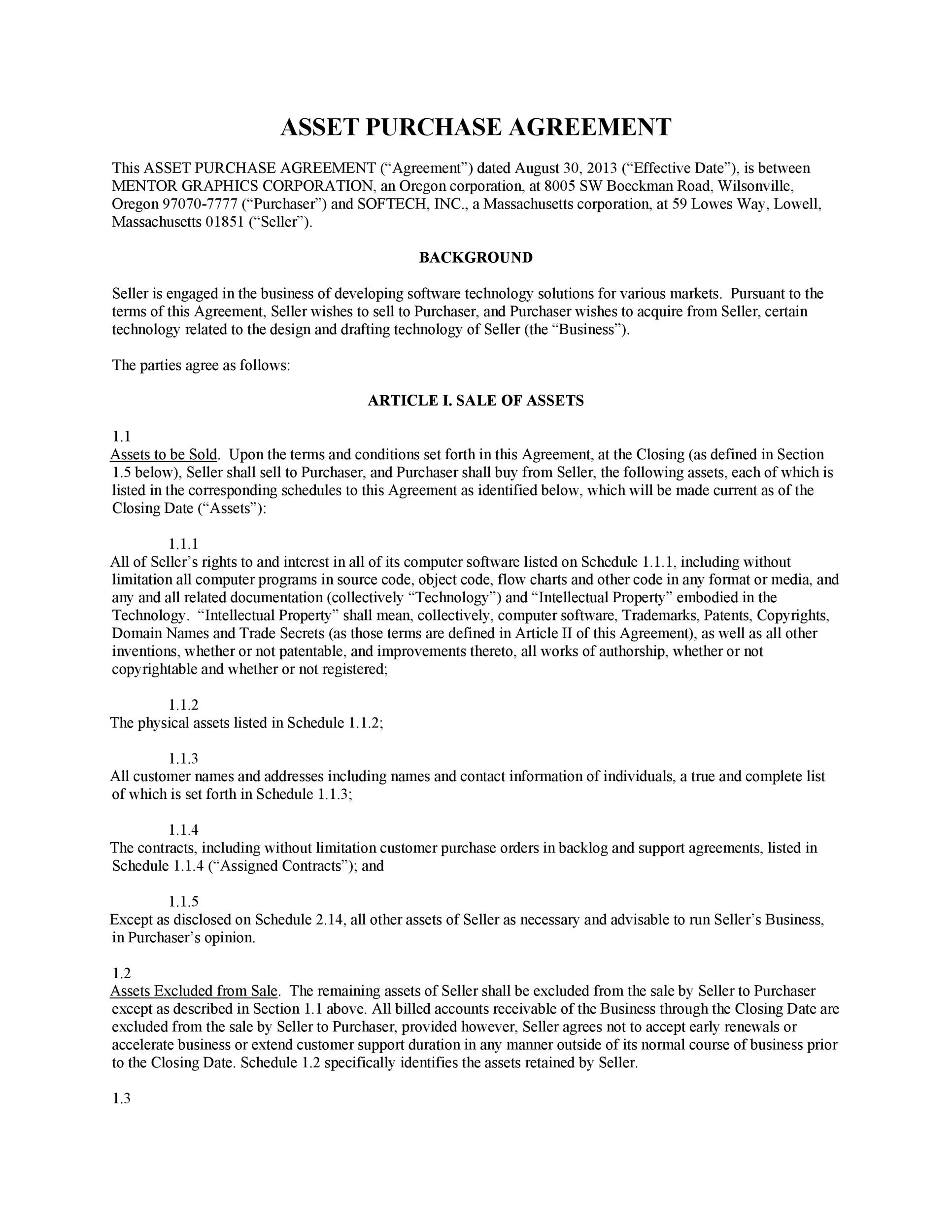 Free Purchase Agreement Template 07