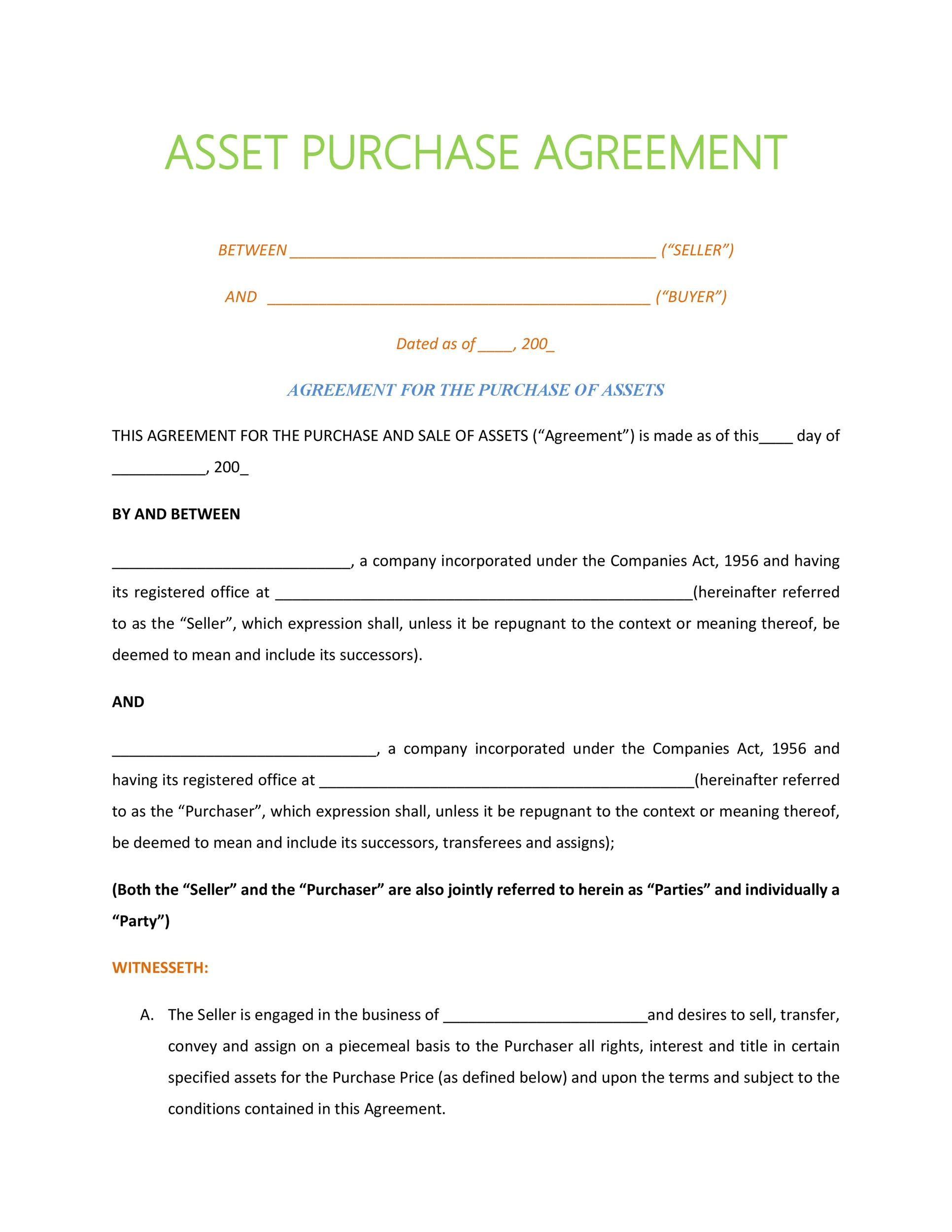 37 Simple Purchase Agreement Templates [Real Estate, Business]