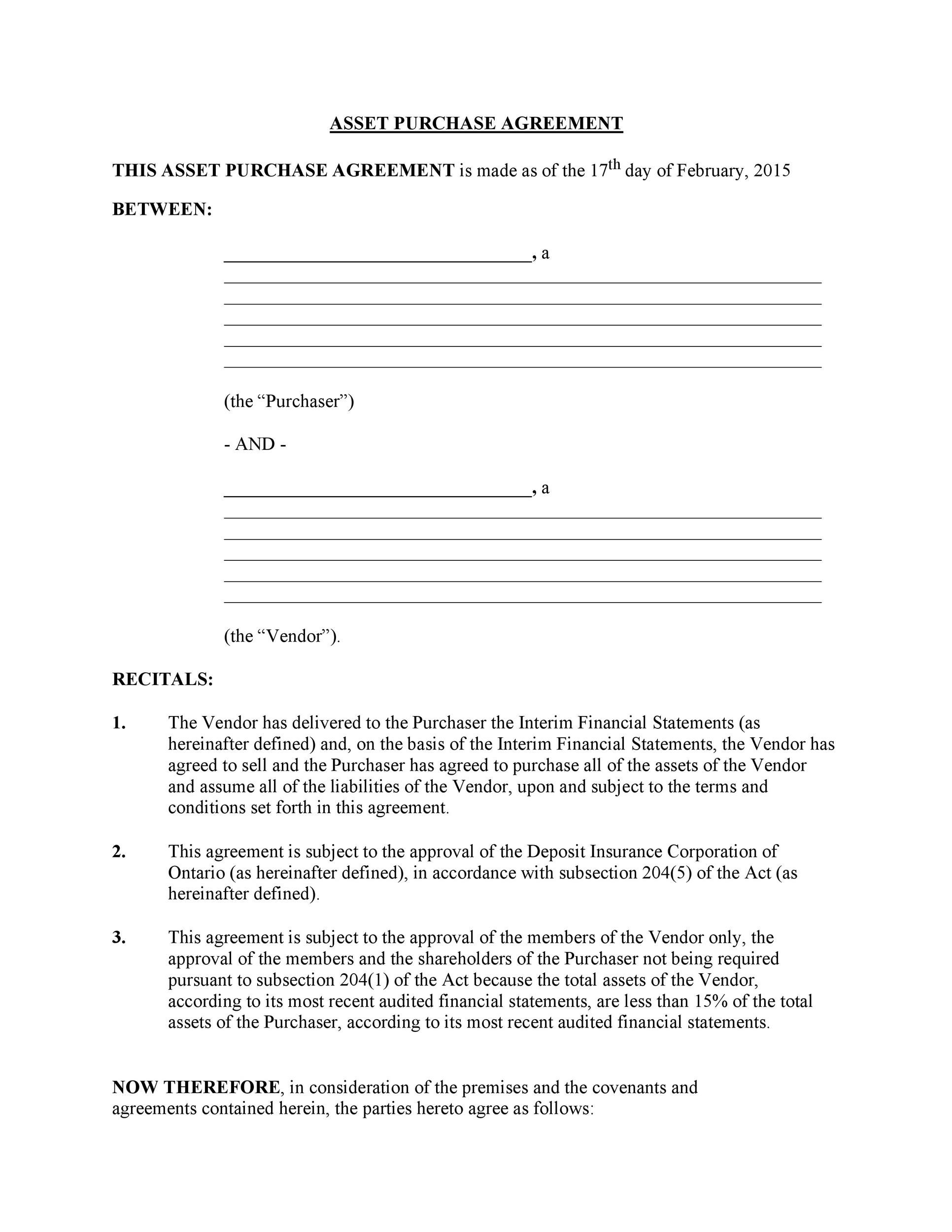 Printable Purchase Agreement Template 30
