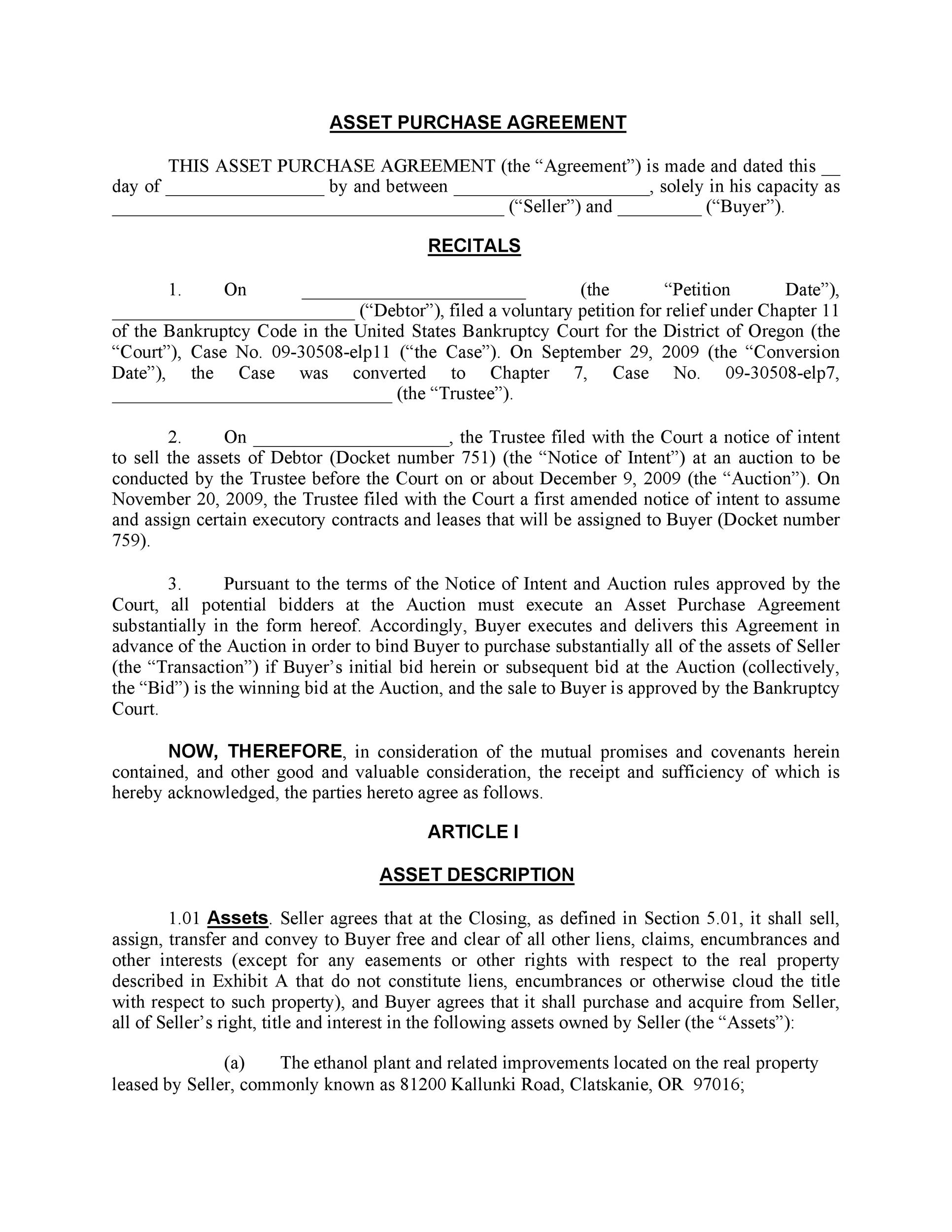 Free Purchase Agreement Template 31