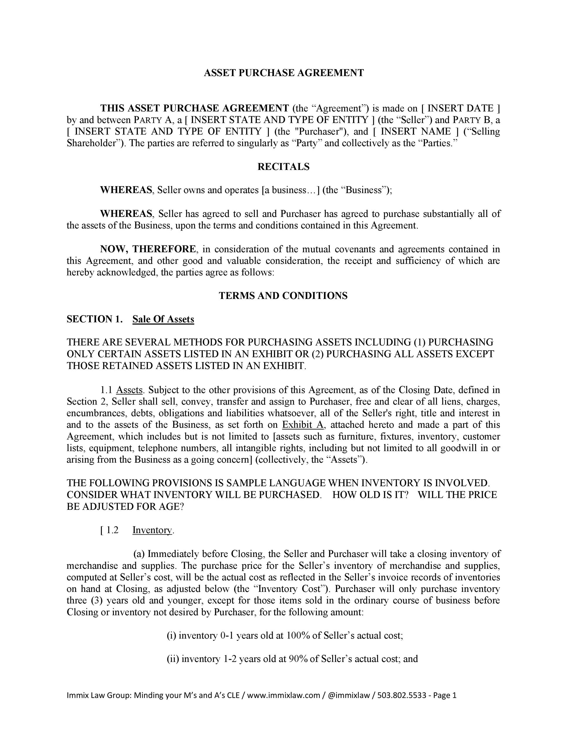 Free Purchase Agreement Template 35