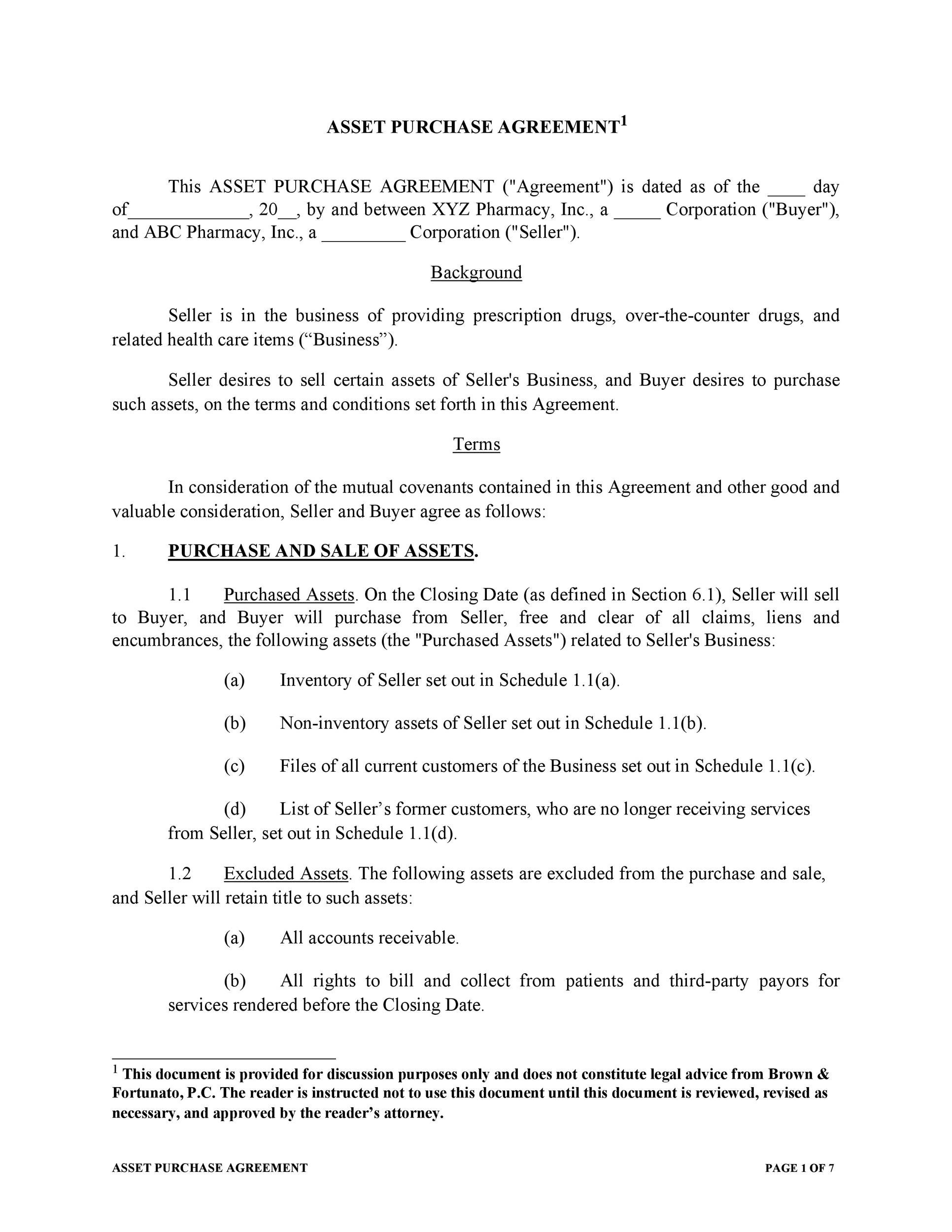 Free Purchase Agreement Template 36