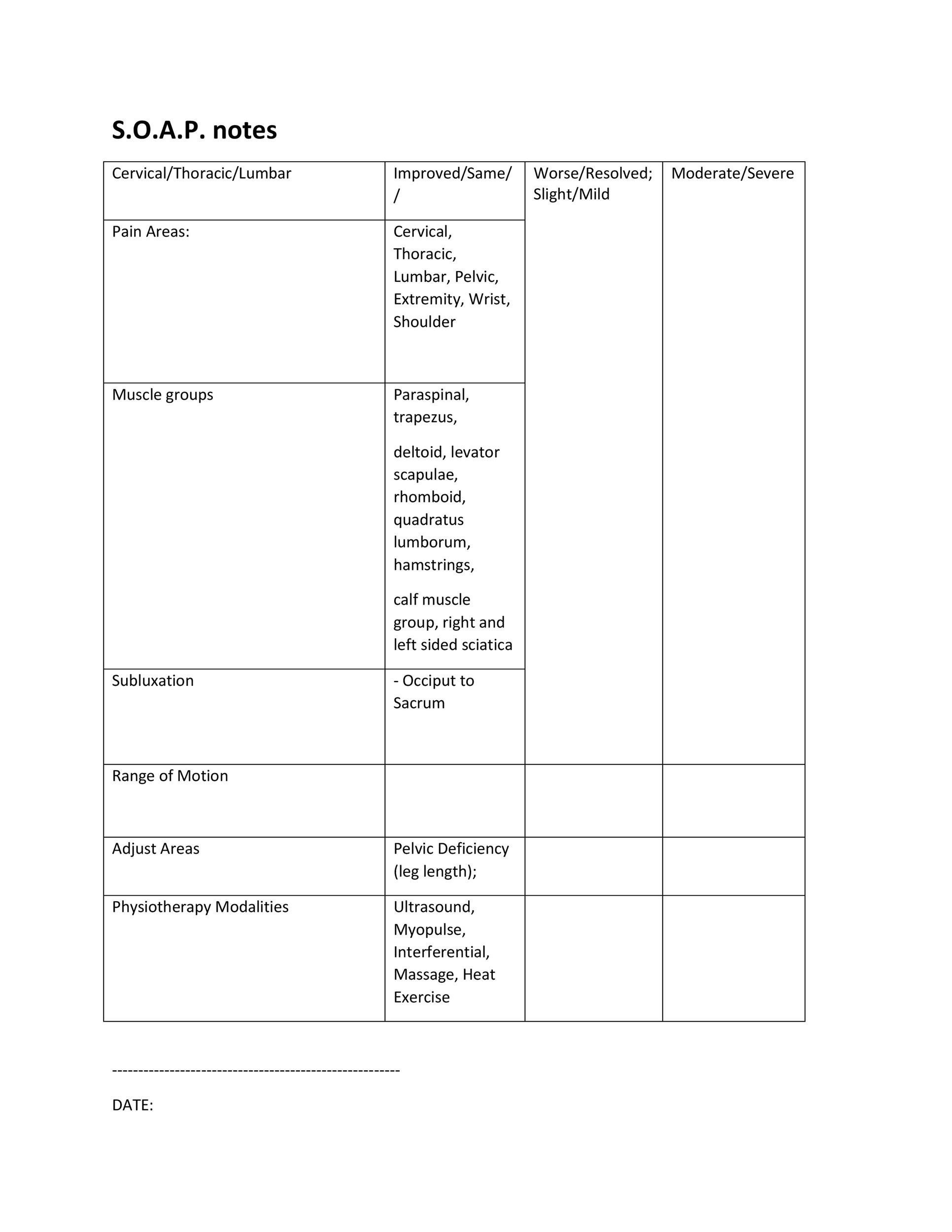 Free Soap Note Template 19