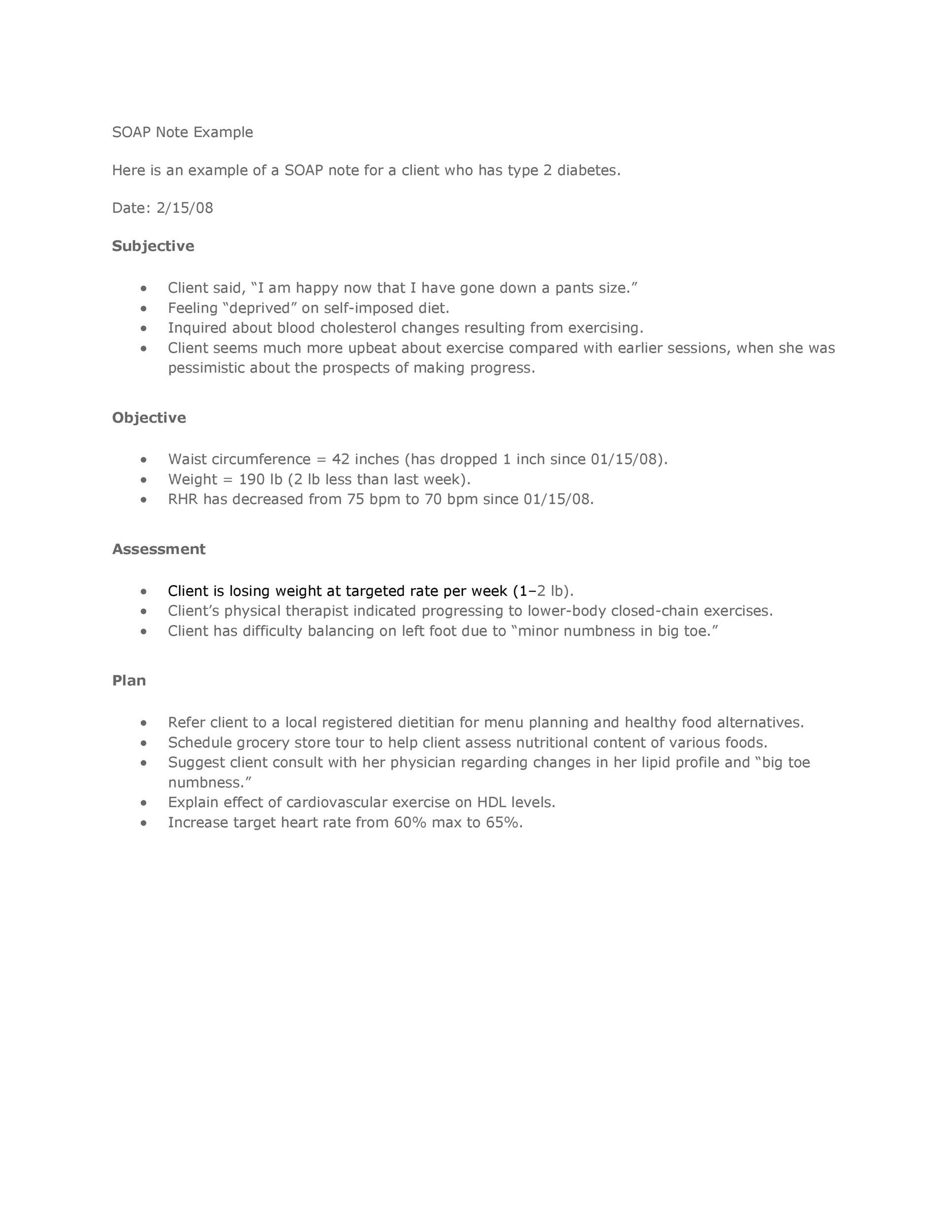 Free Soap Note Template 30