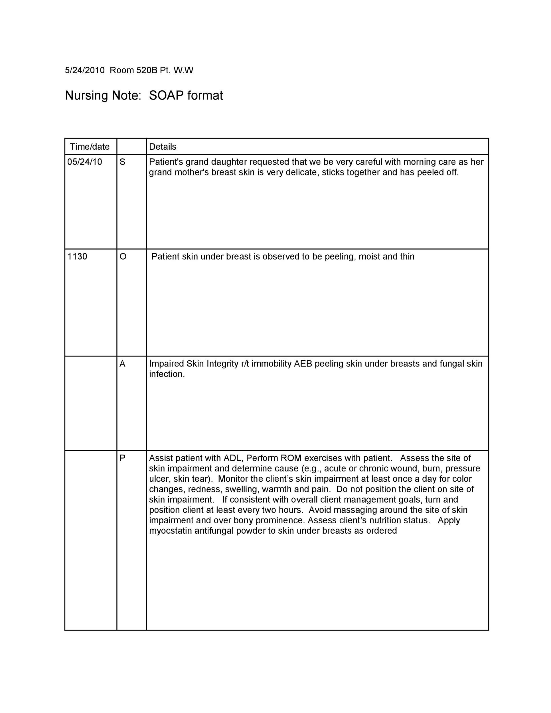 Free Soap Note Template 31