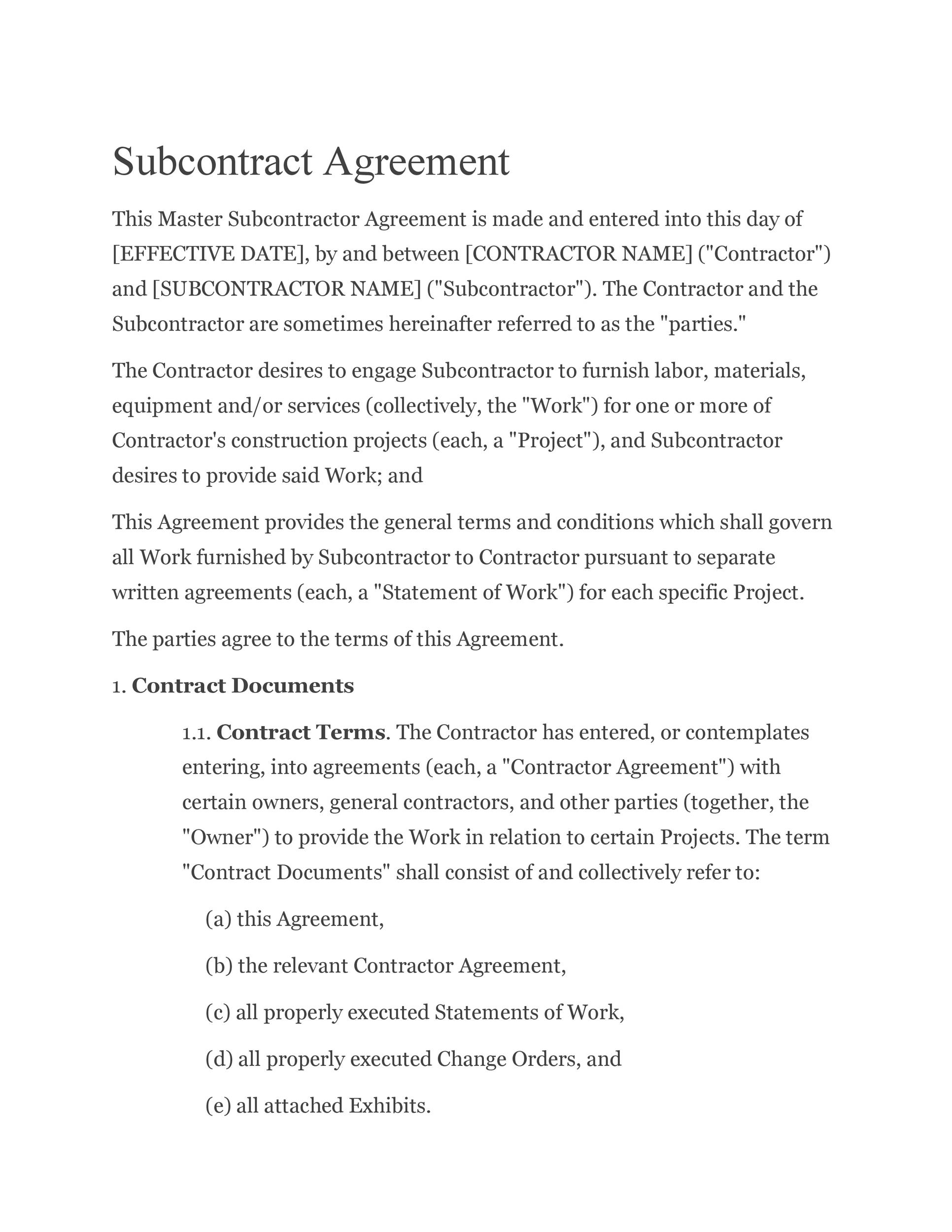 Free Subcontractor Agreement 13