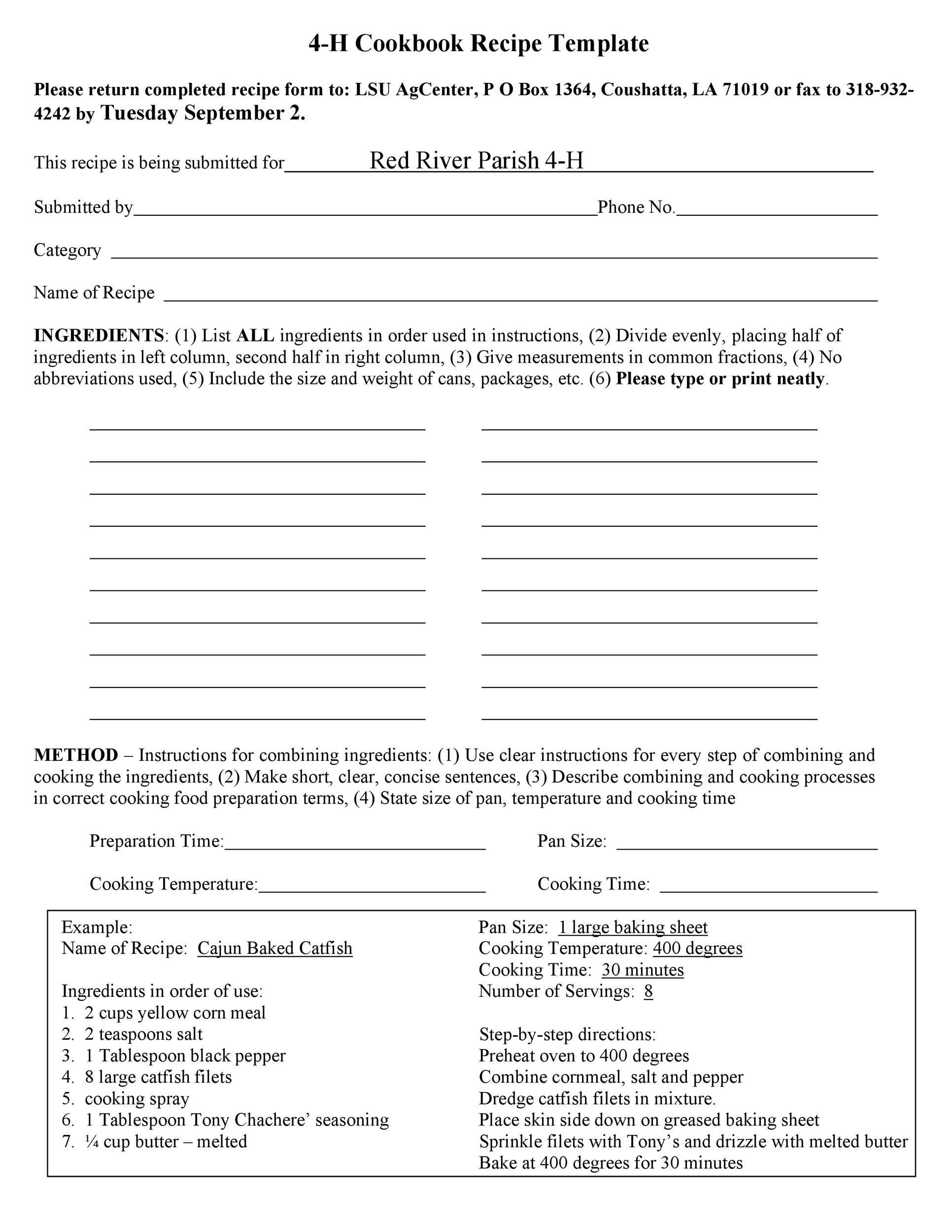 Free cookbook template 03