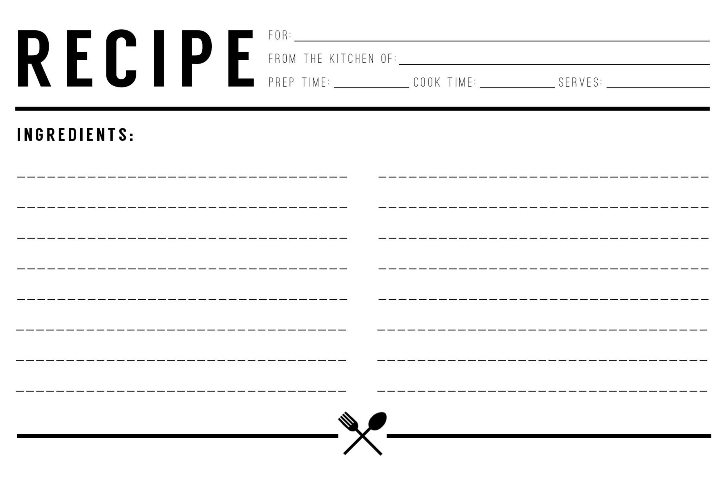 recipe cookbook template - Forte.euforic.co