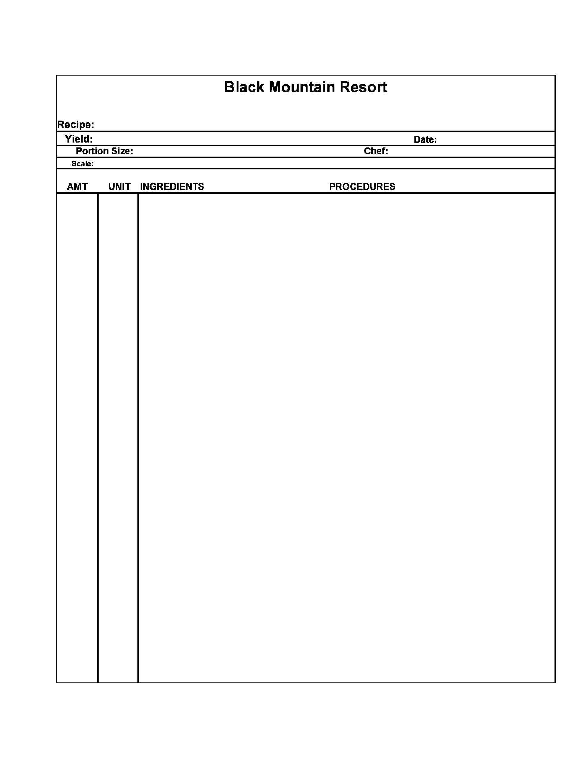 Free cookbook template 09