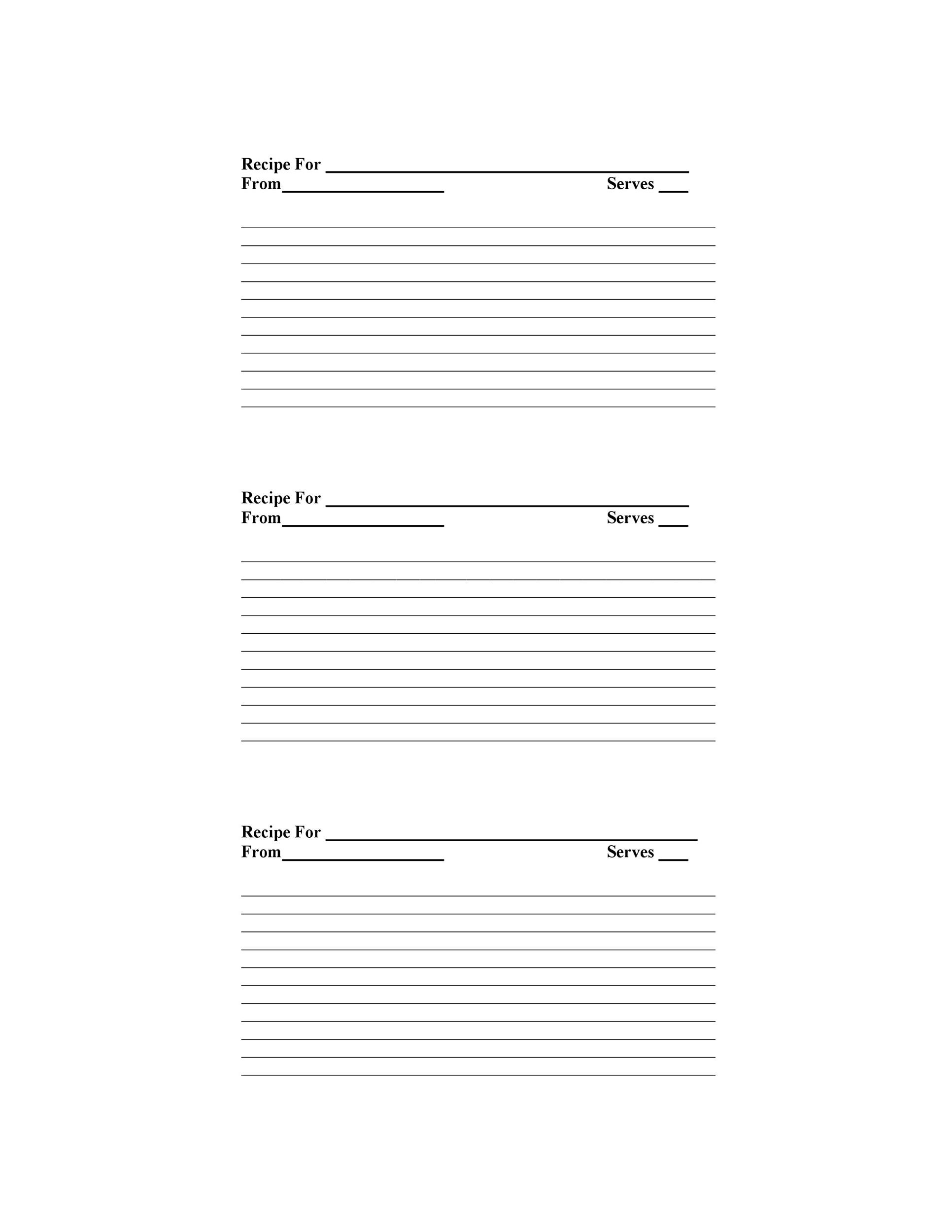 Free Recipe Template Word from templatelab.com
