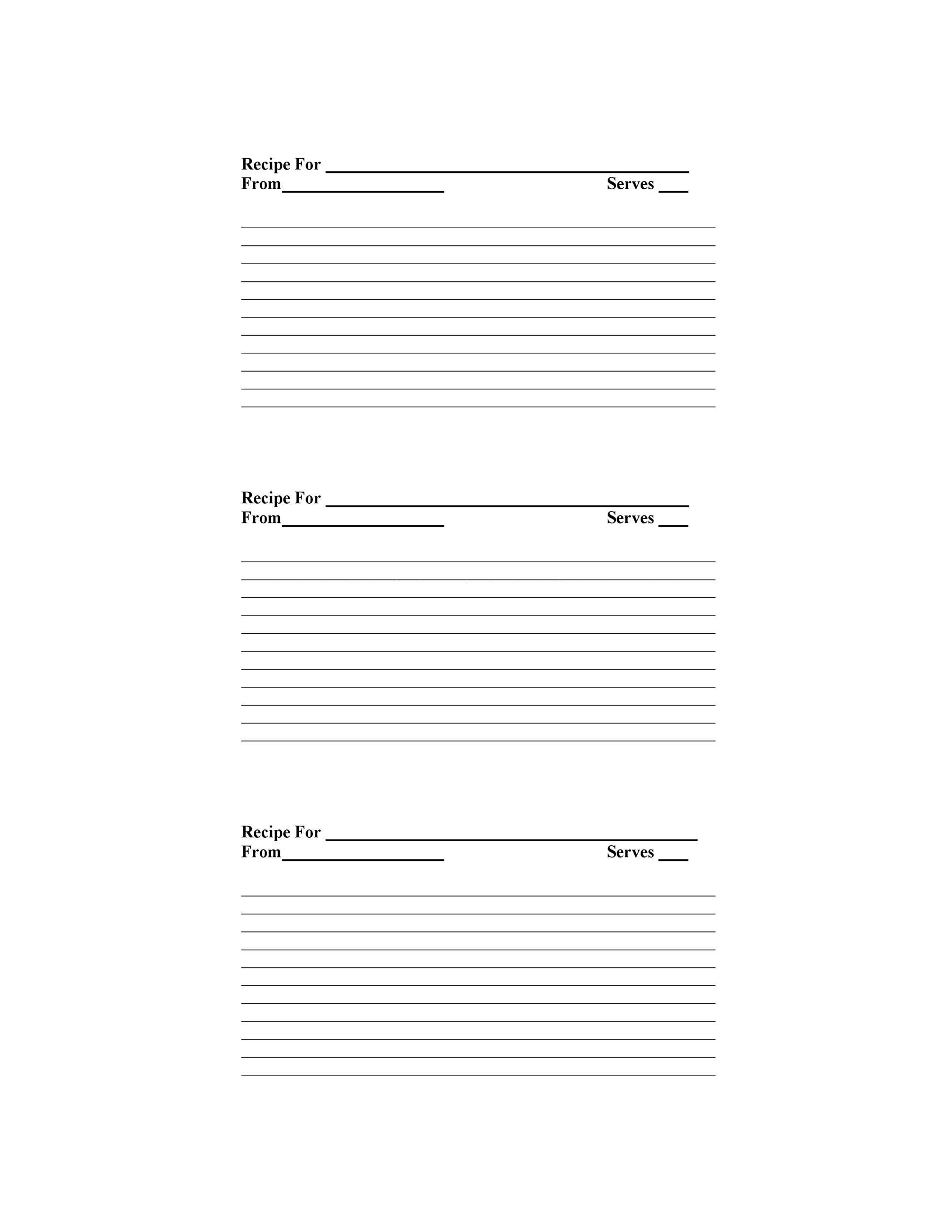 Free cookbook template 12
