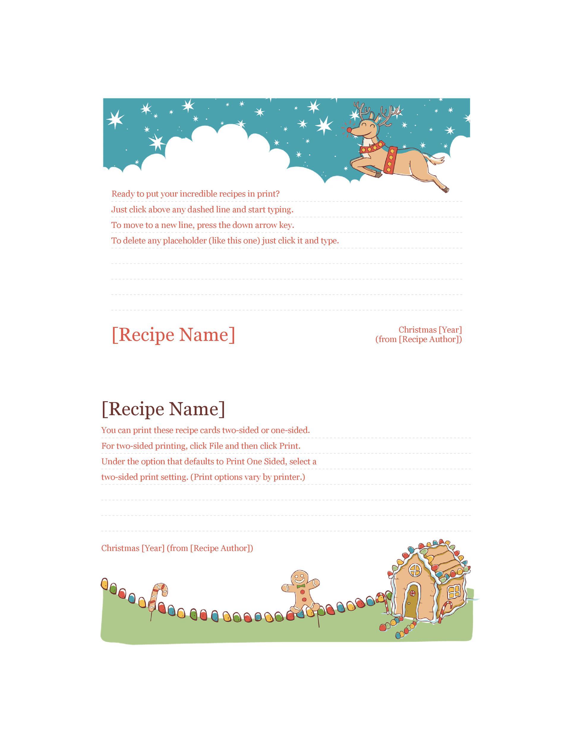 Free cookbook template 15