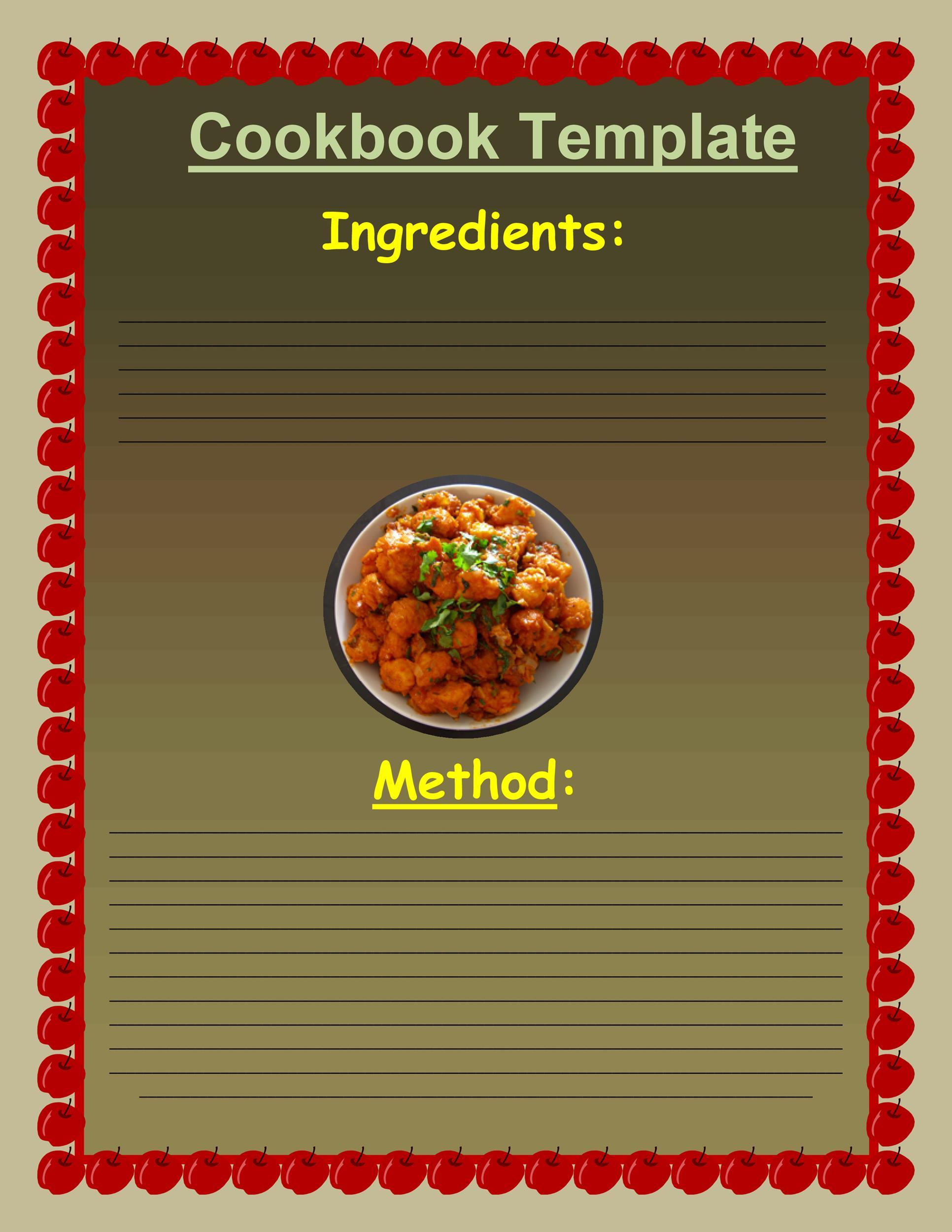 Free cookbook template 32