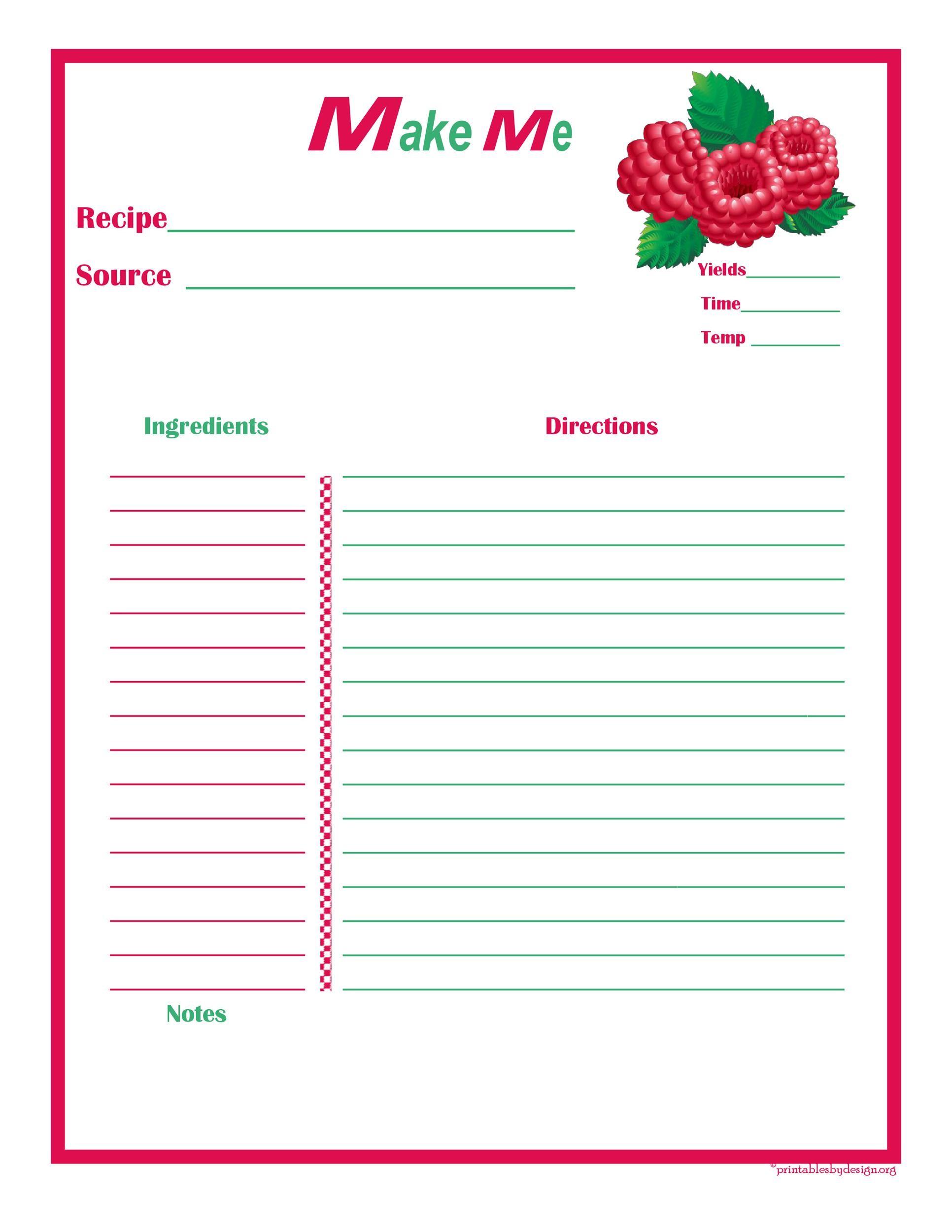 Free cookbook template 38
