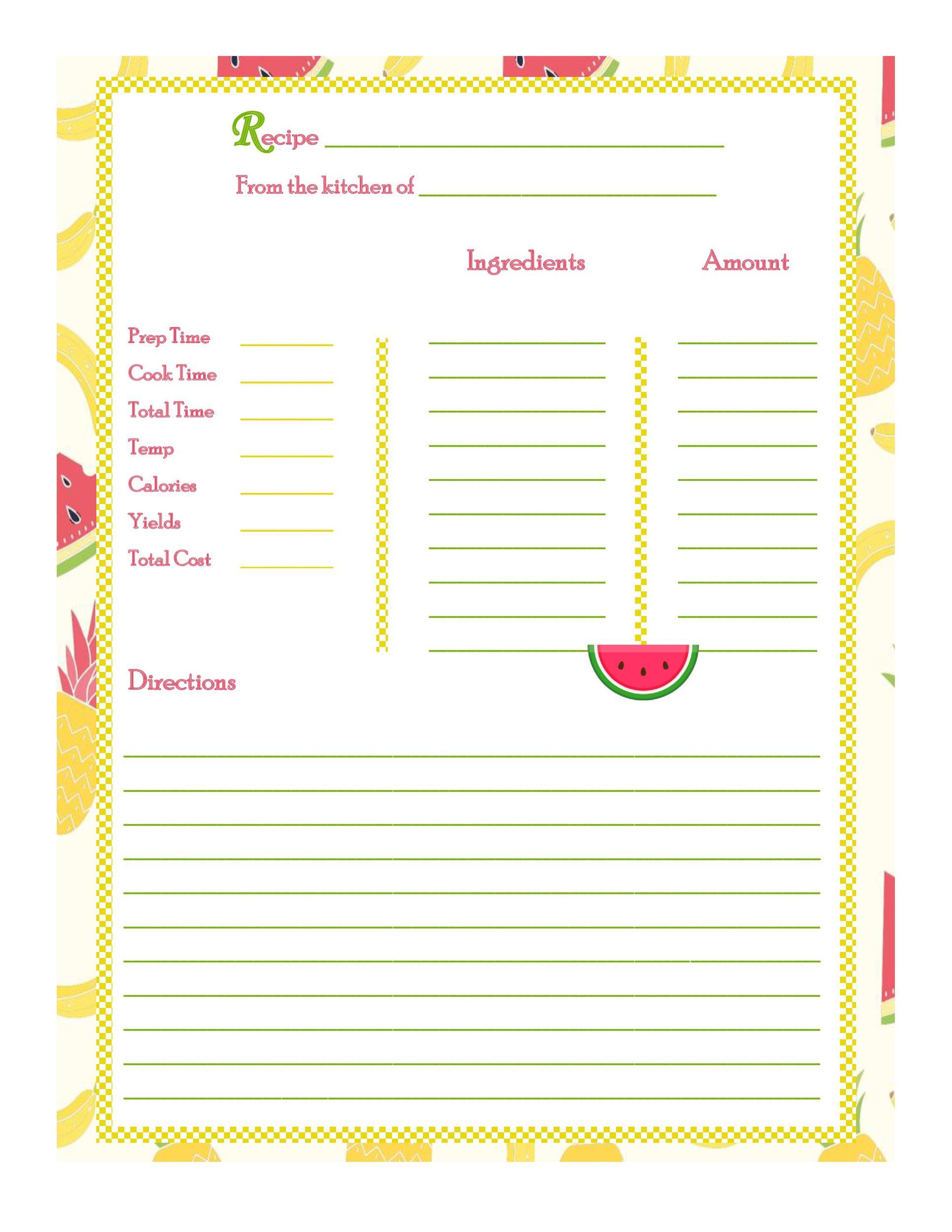 Free cookbook template 39