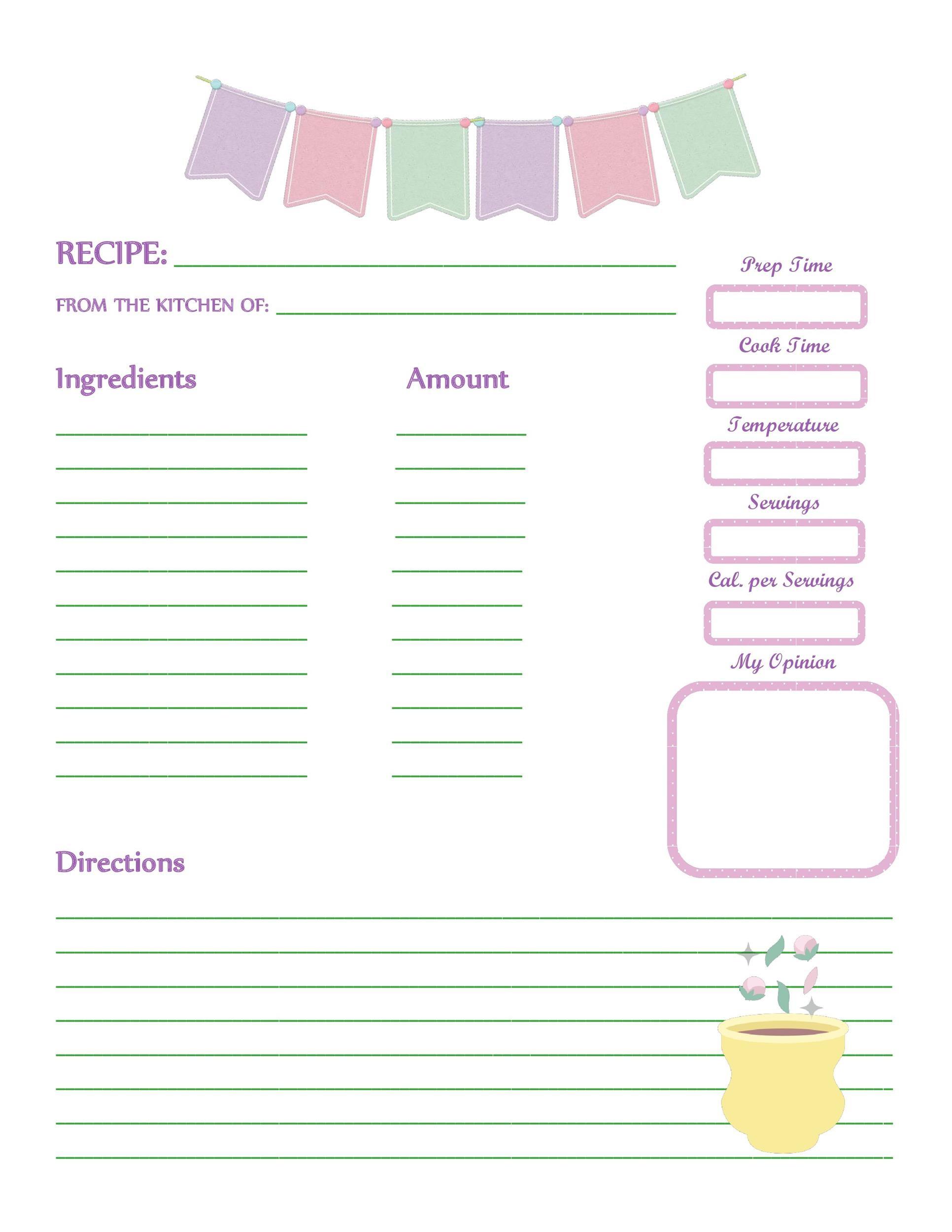 Free cookbook template 43