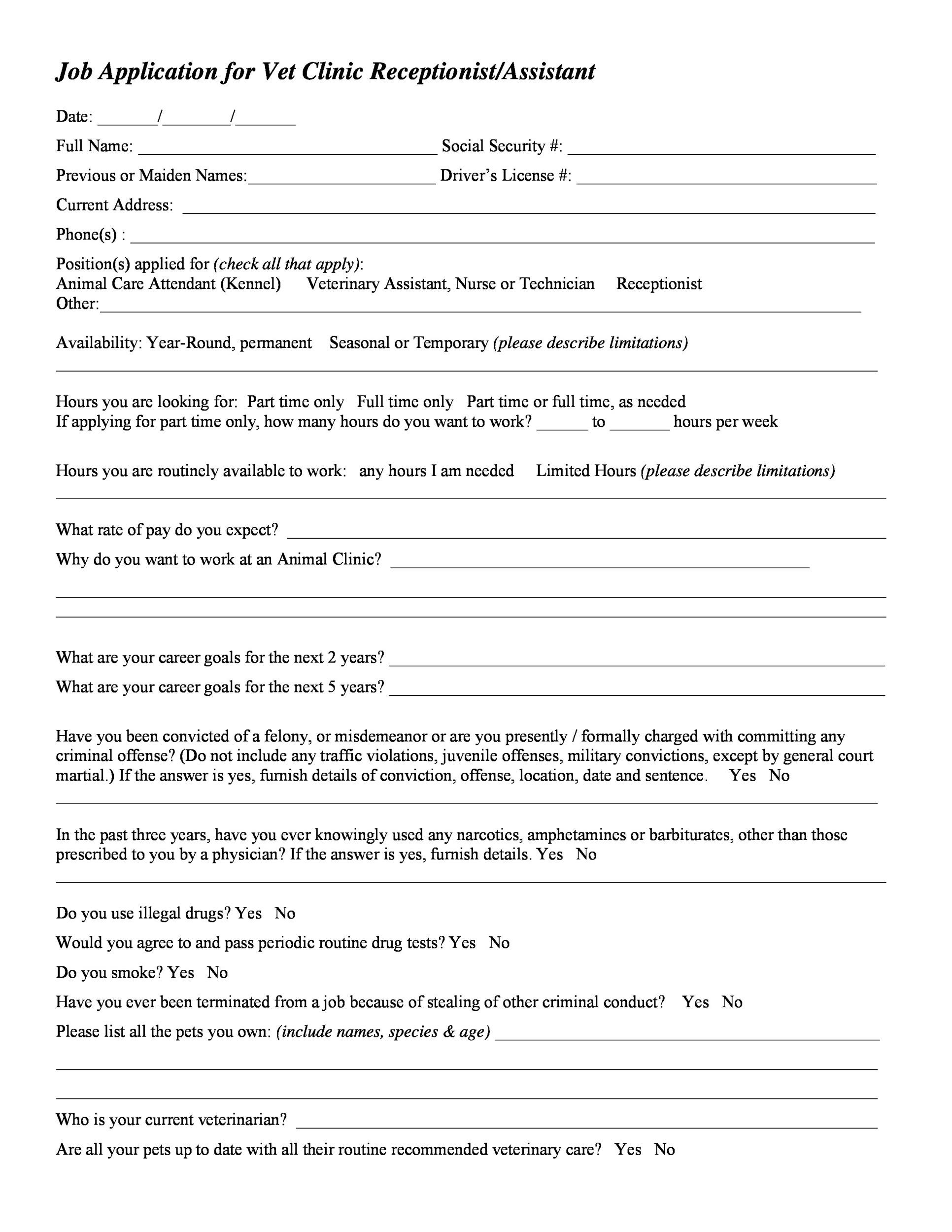 Simple Job Application Template Free from templatelab.com