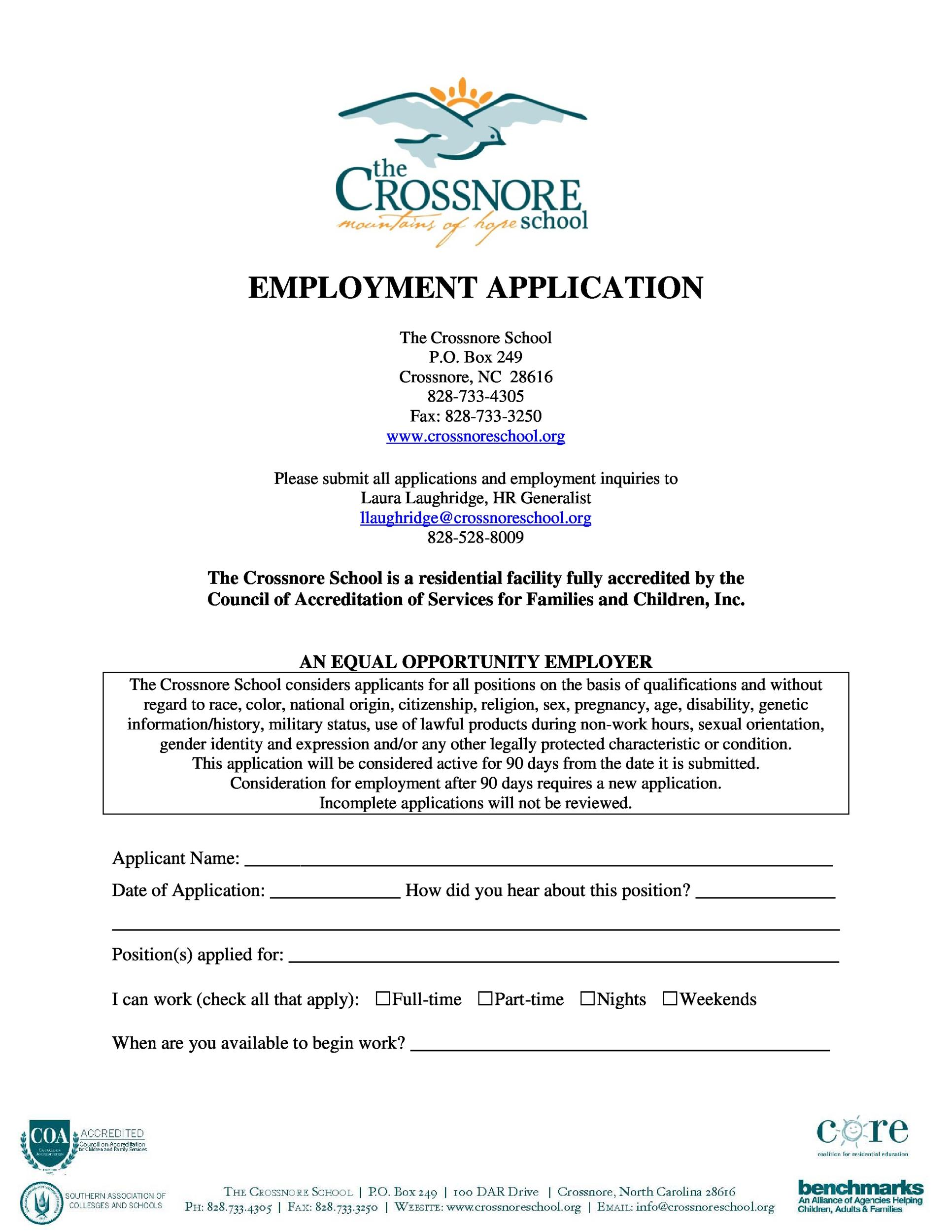 Free employment application template 24