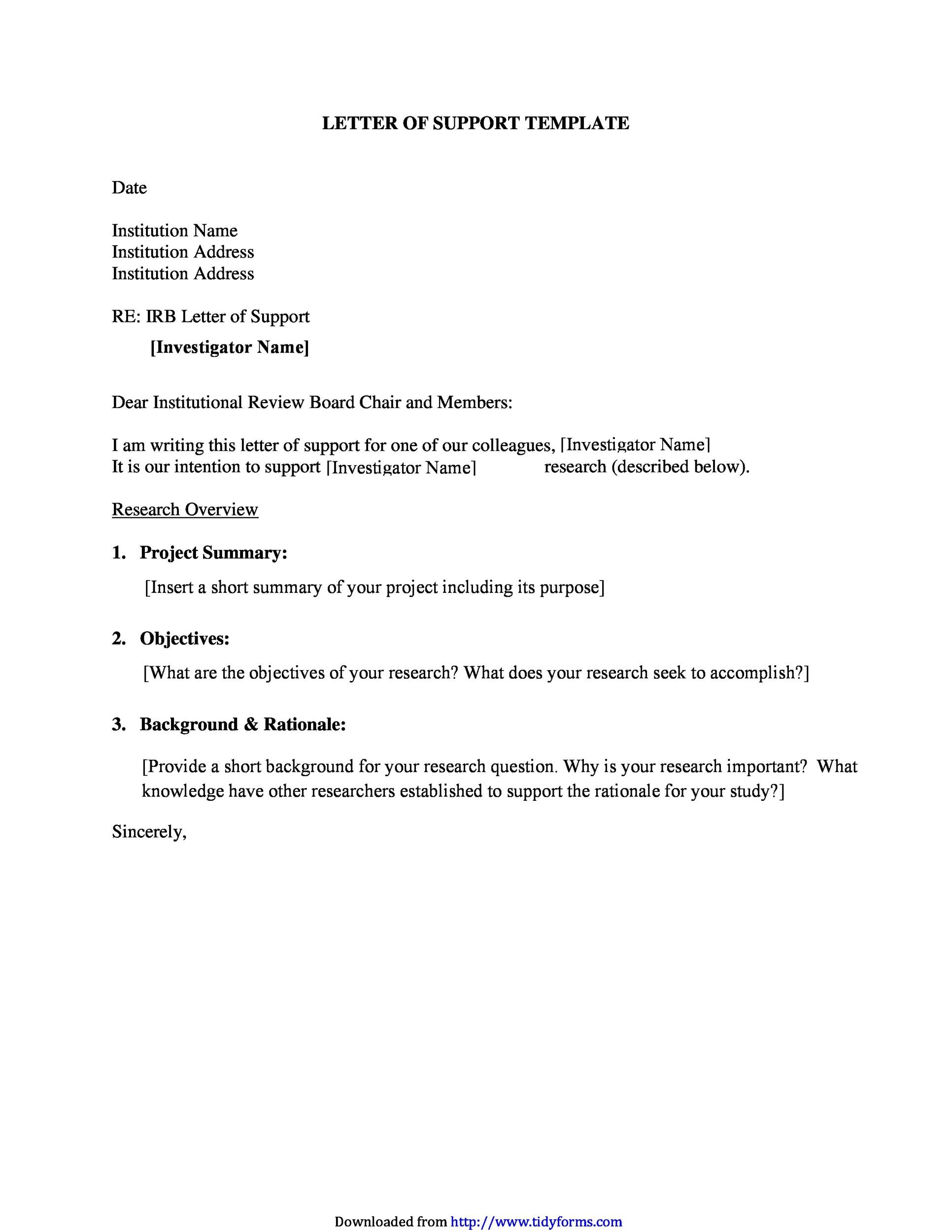 writing a letter of support 40  Proven Letter of Support Templates [Financial, for Grant...]