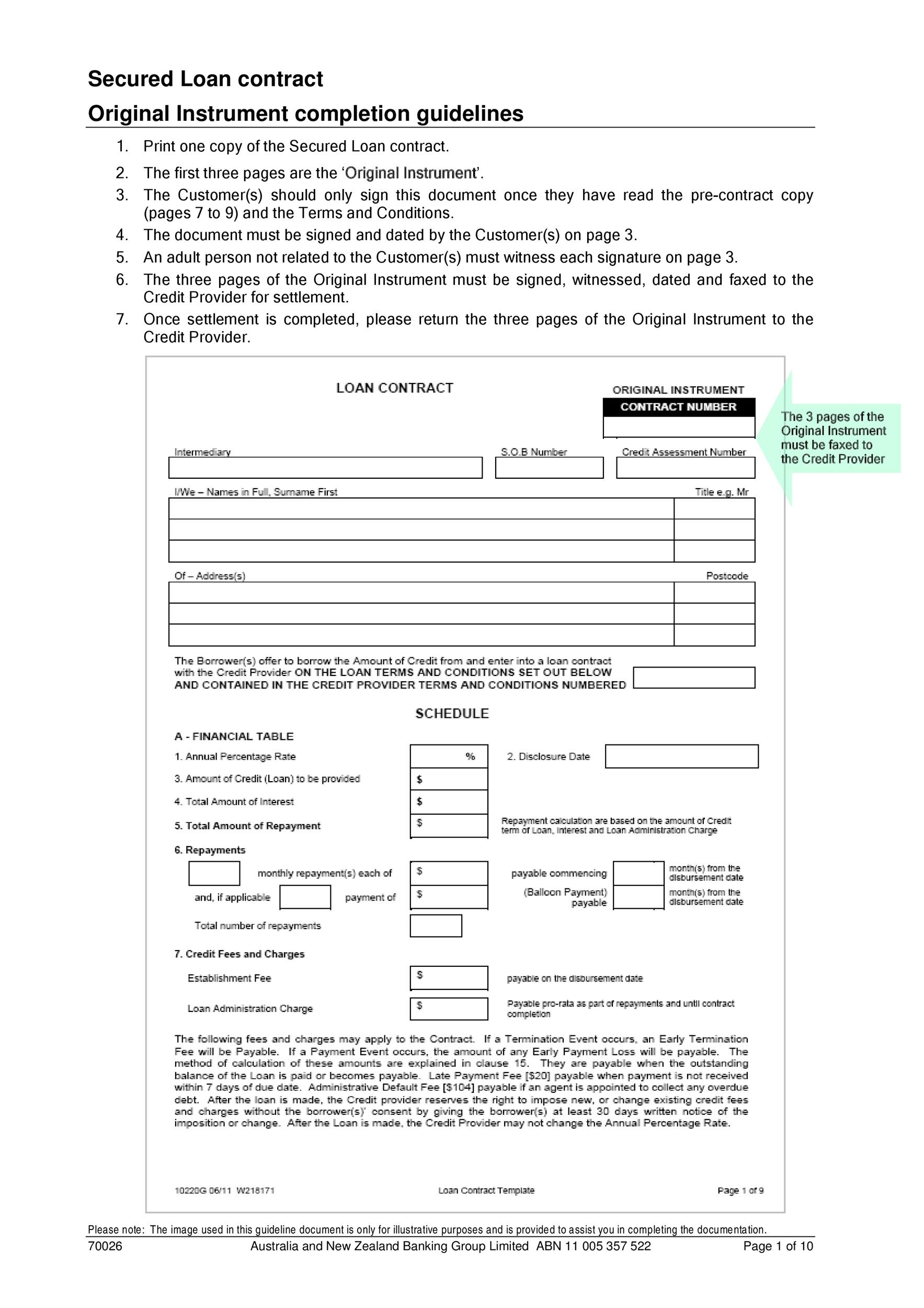 40 Free Loan Agreement Templates Word Amp Pdf Template Lab