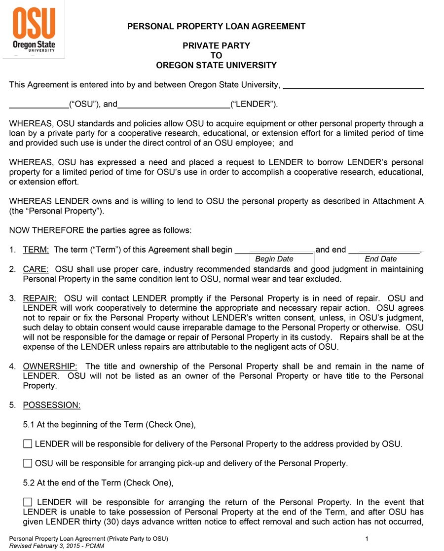 Free loan agreement template 15