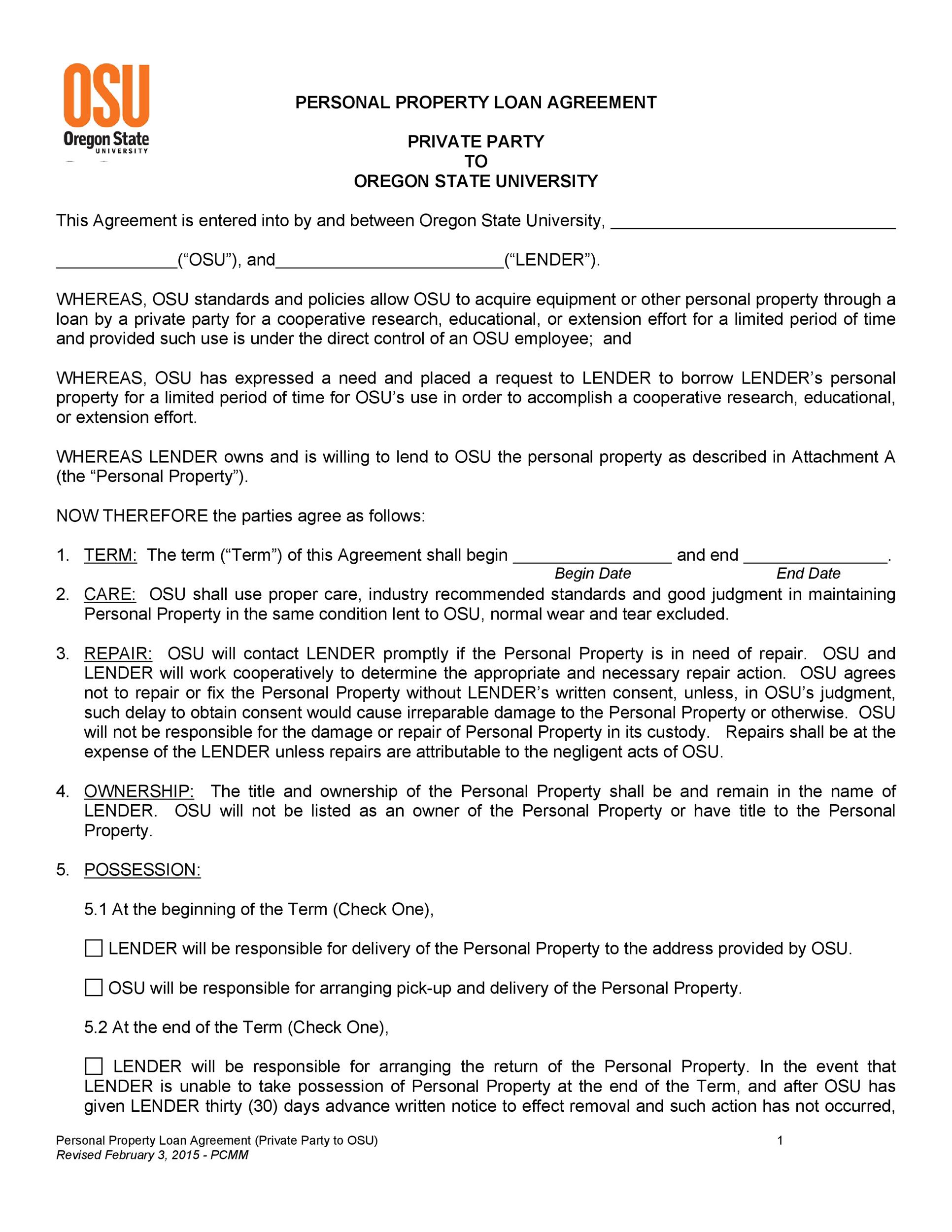 Doc468605 Loan Repayment Contract Sample 5 Loan Agreement – Free Loan Agreement Template Word