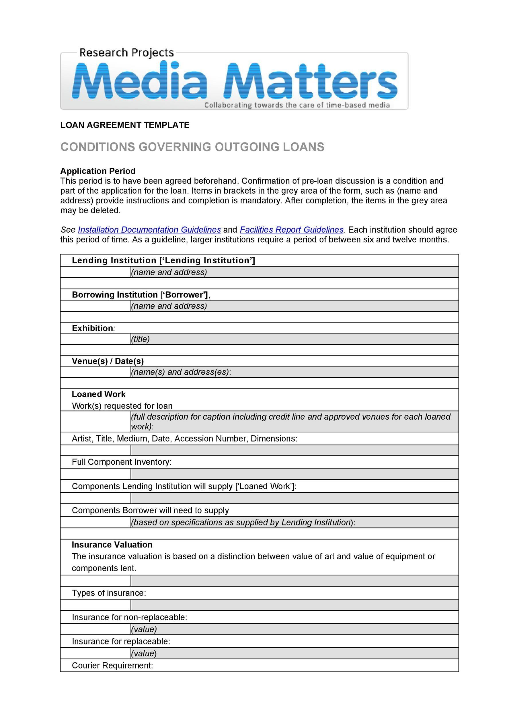 40 Free Loan Agreement Templates Word Pdf Á… Templatelab