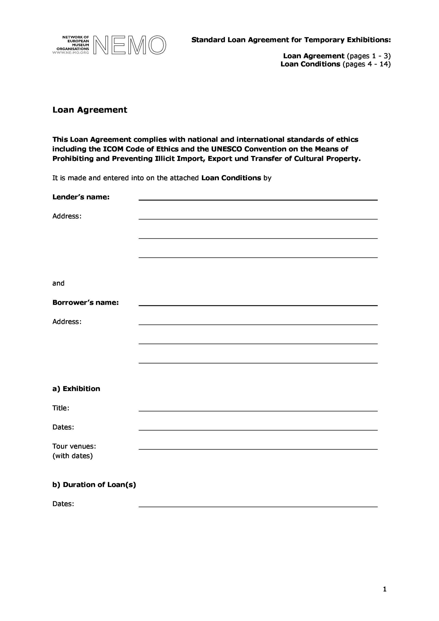 Printable Loan Agreement Template 28  Loan Agreement Templates