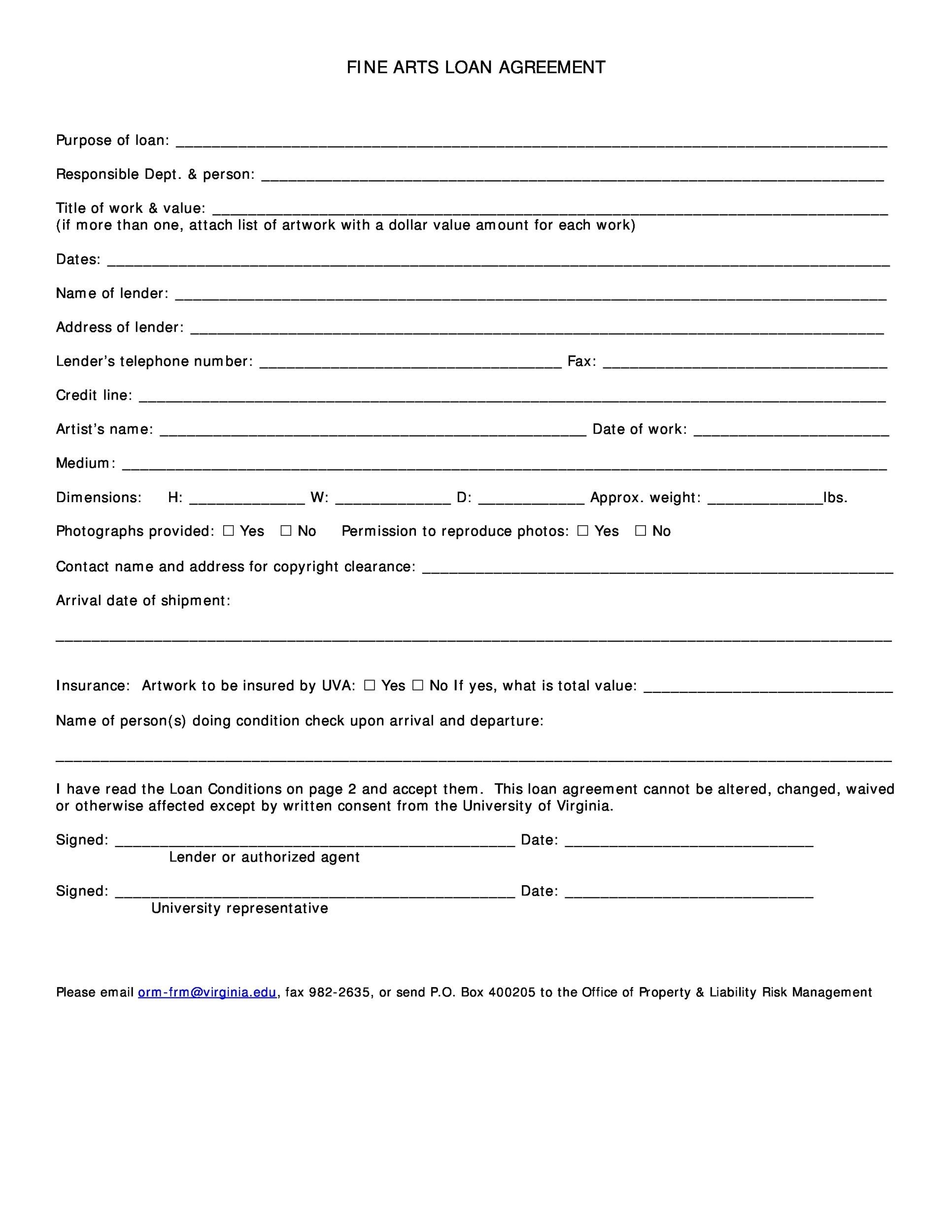 Free loan agreement template 29