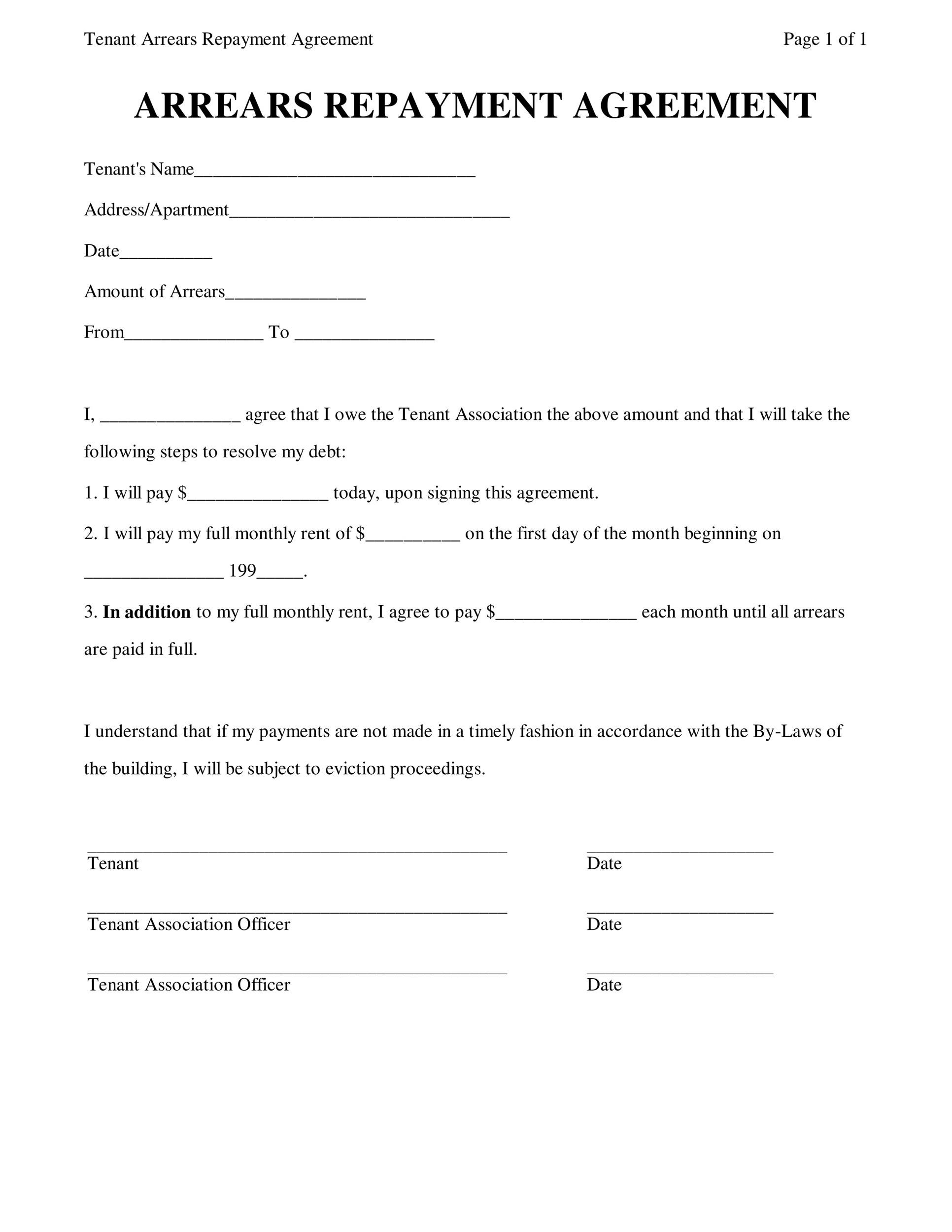 printable loan agreement template 34 - Sample Lending Contract
