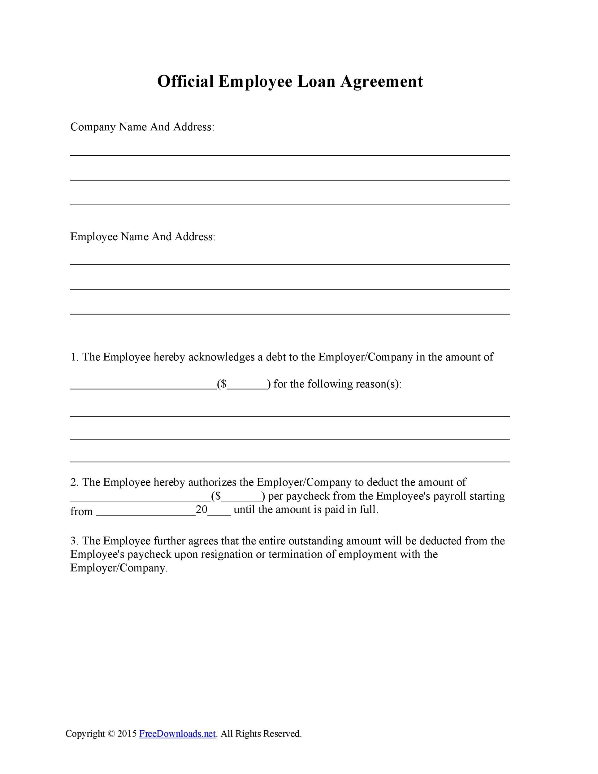 Printable Loan Agreement Template 38  Private Loan Contract Template
