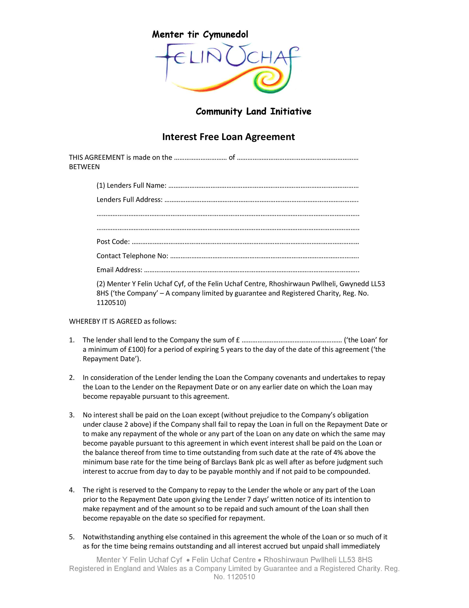 Free loan agreement template 39
